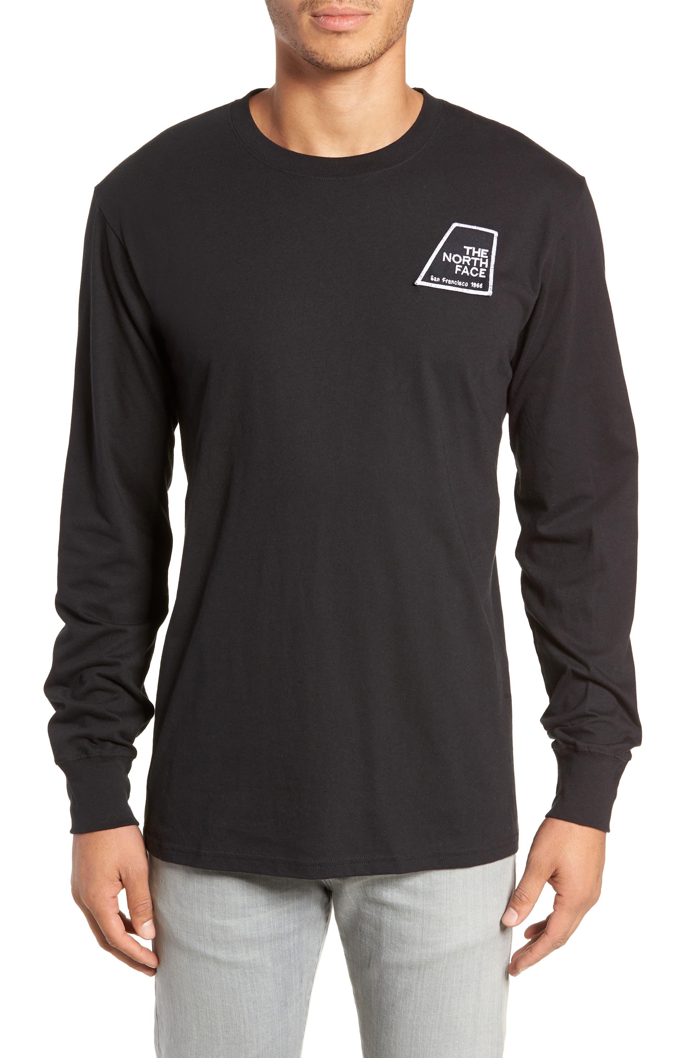 Graphic Patch T-Shirt,                             Main thumbnail 1, color,                             TNF BLACK
