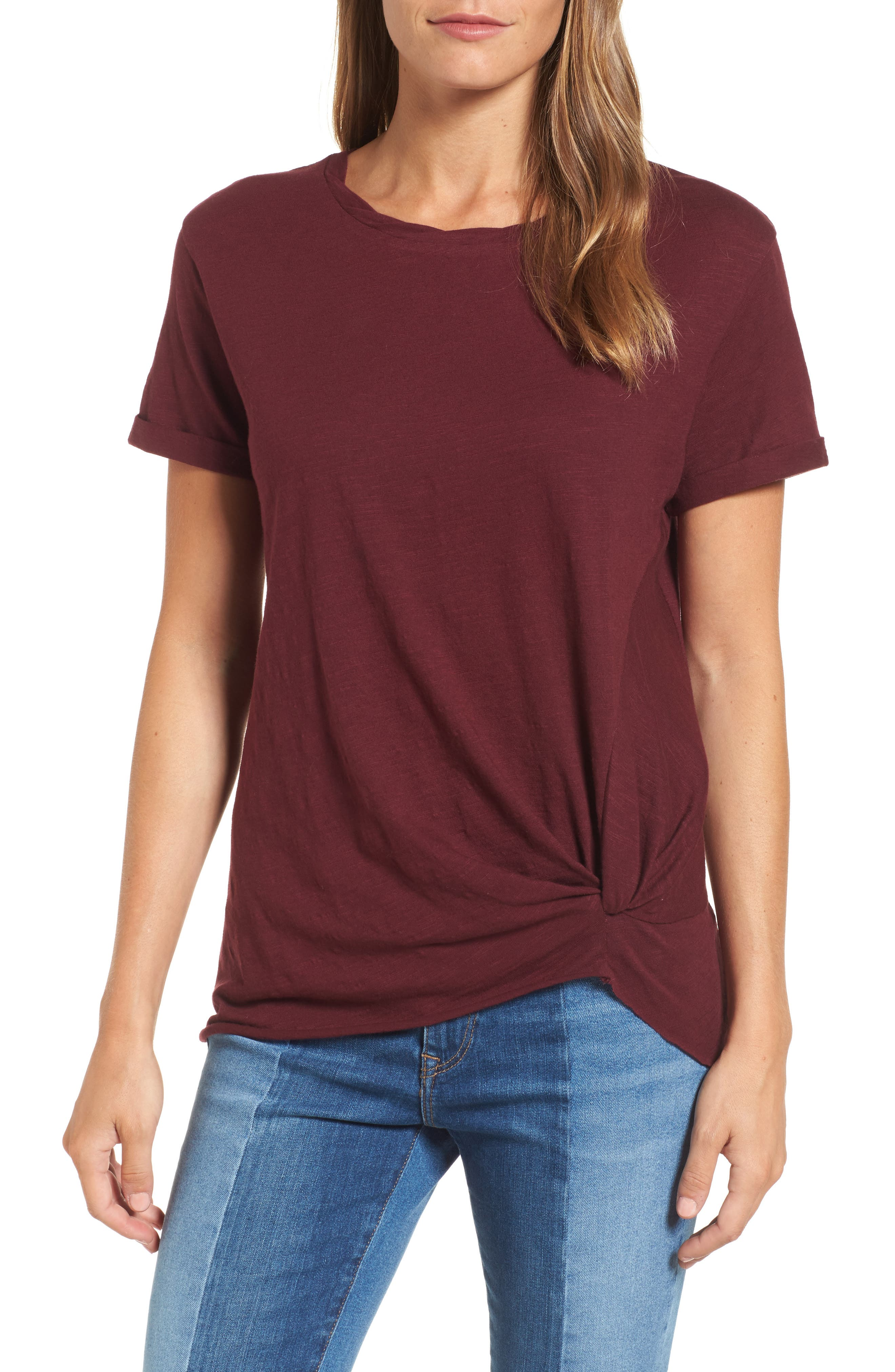 Knotted Tee,                             Main thumbnail 4, color,