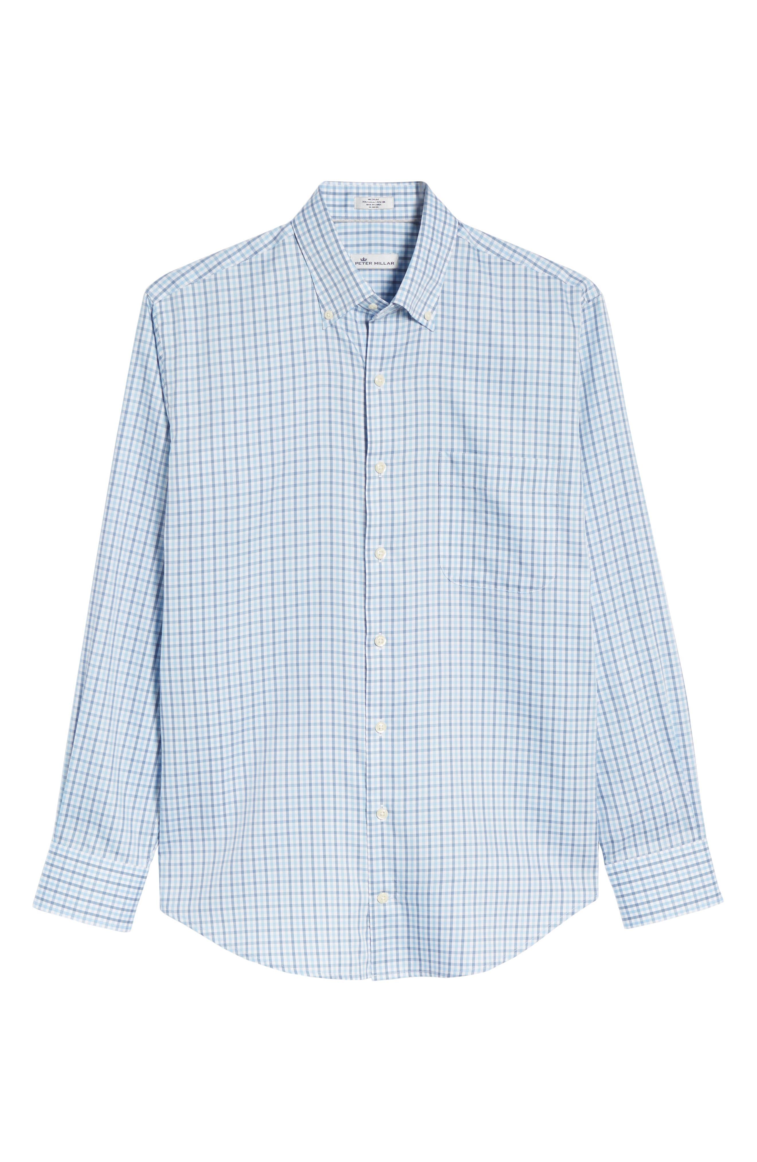 Lake City Regular Fit Tattersall Sport Shirt,                             Alternate thumbnail 6, color,                             COTTAGE BLUE
