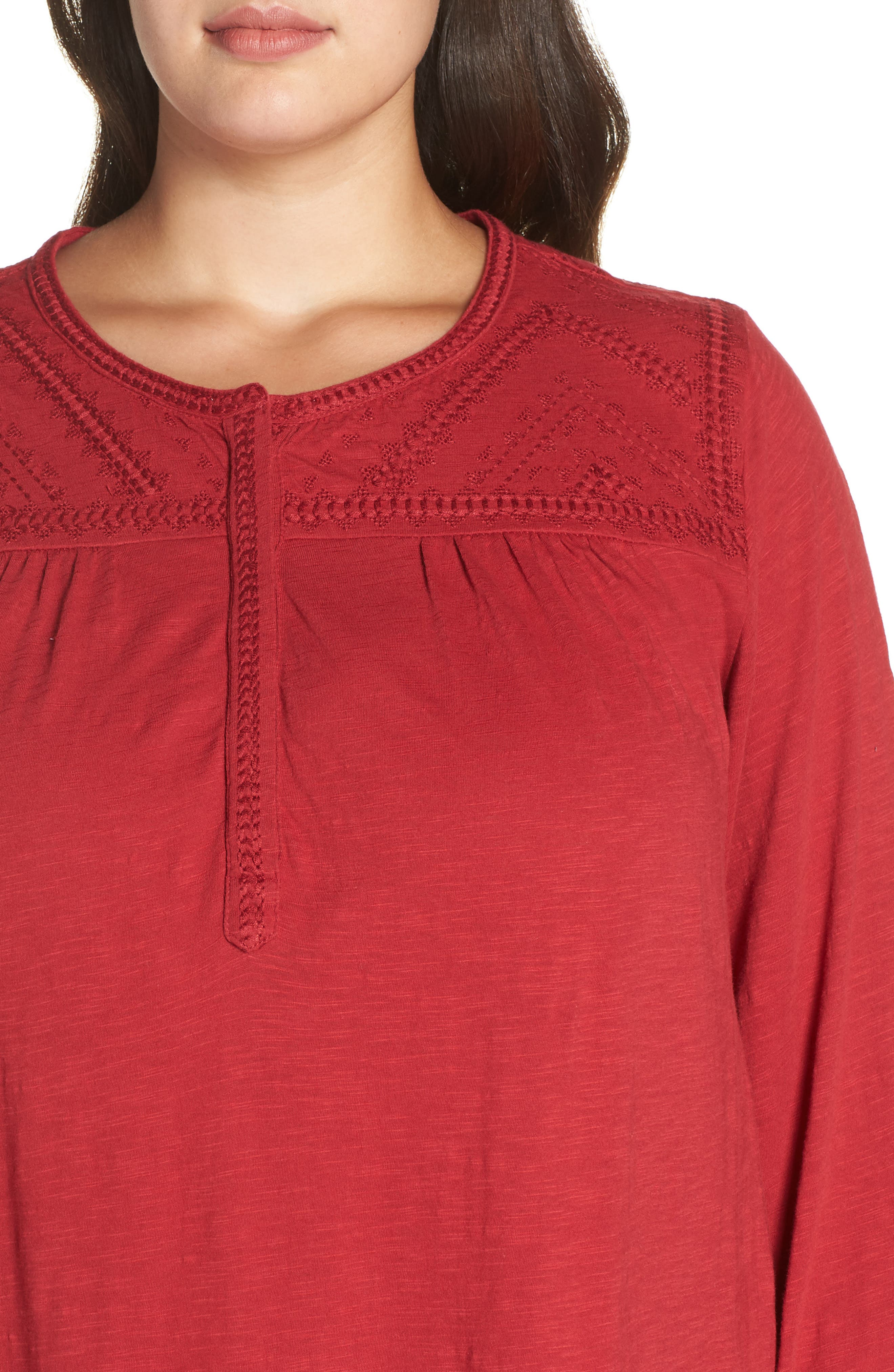 Embroidered Top,                             Alternate thumbnail 4, color,                             600