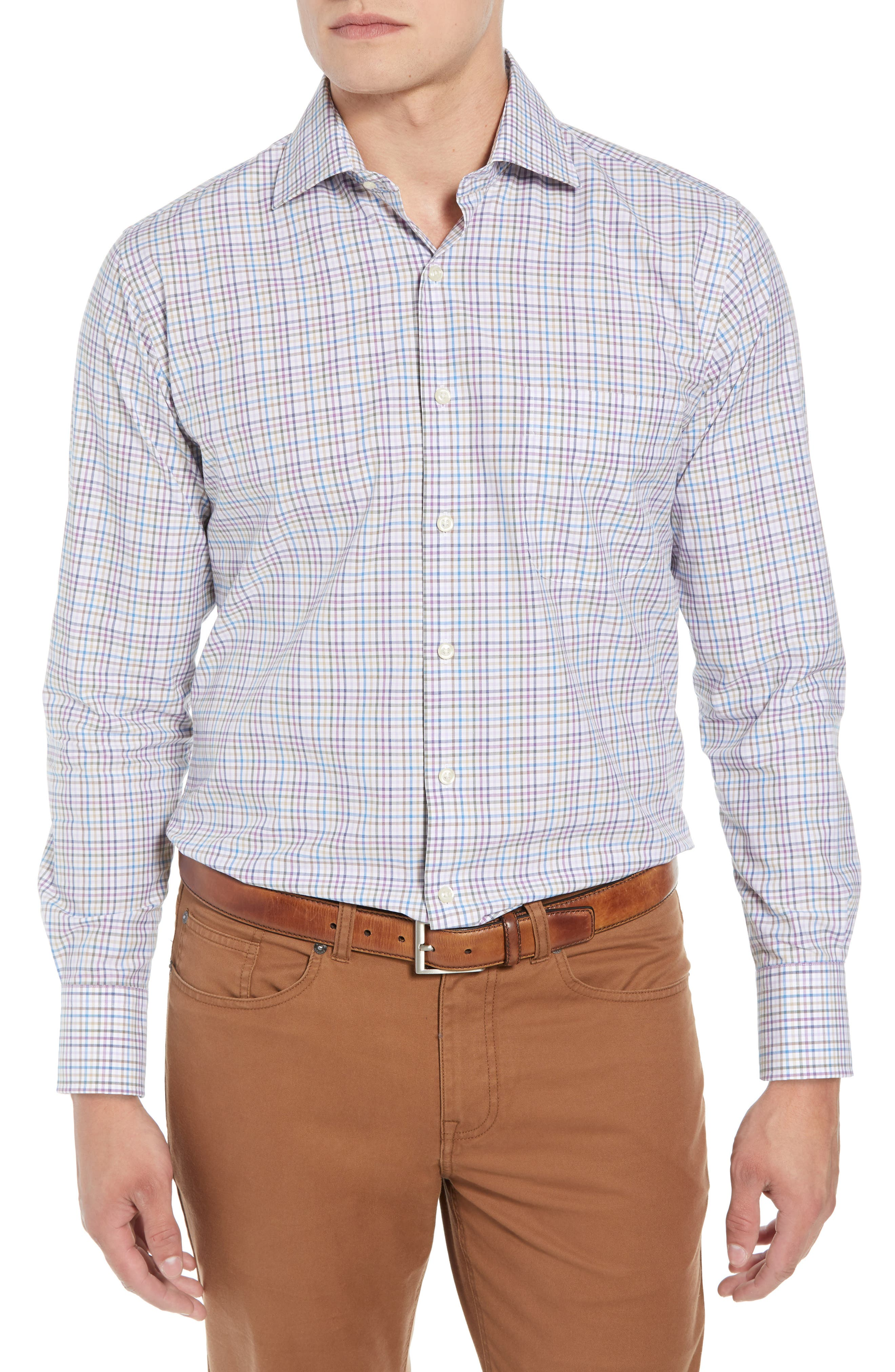 Whittier Heights Check Sport Shirt,                         Main,                         color, BEET