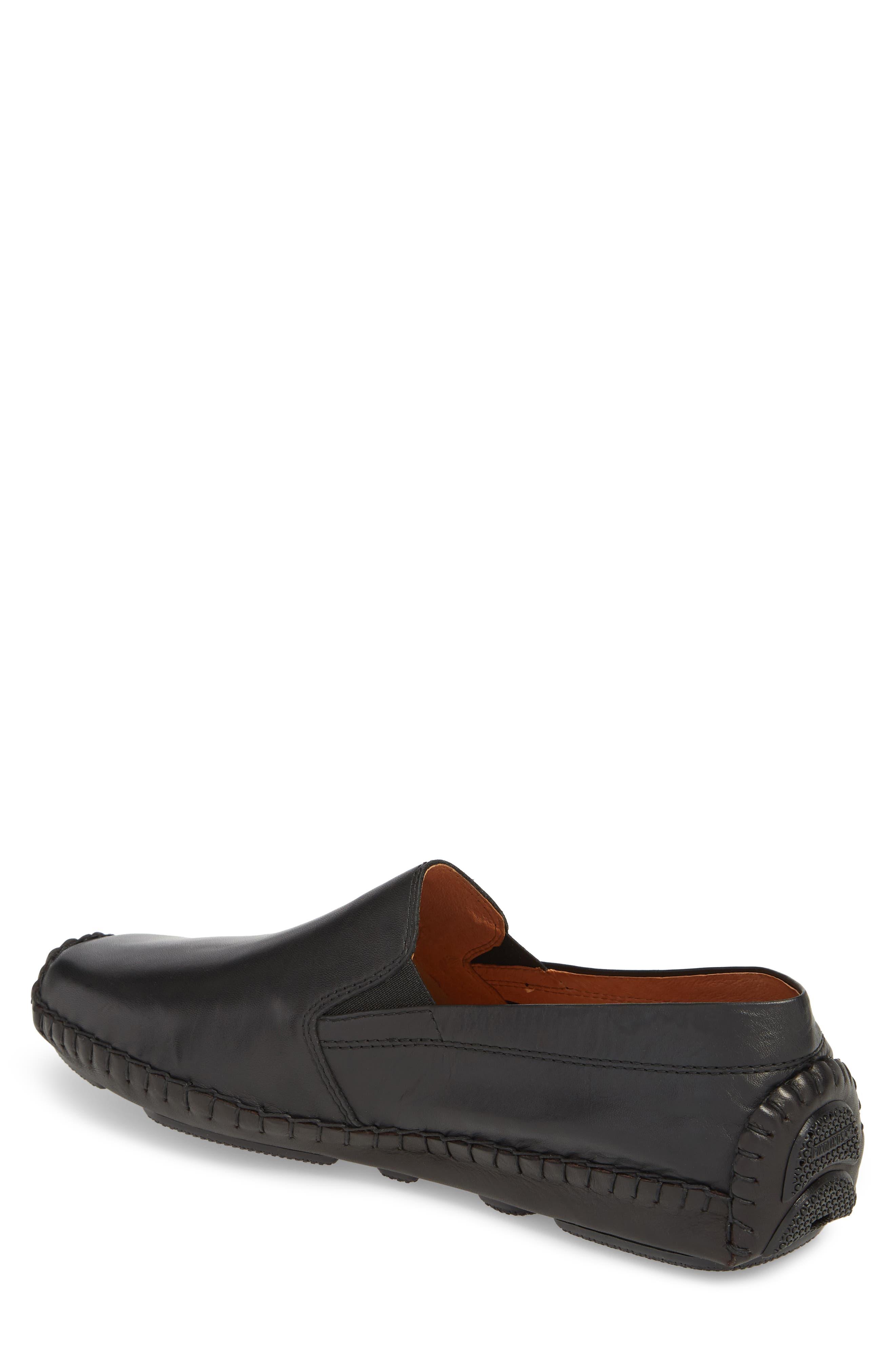 Jerez Driving Shoe,                             Alternate thumbnail 2, color,                             BLACK LEATHER