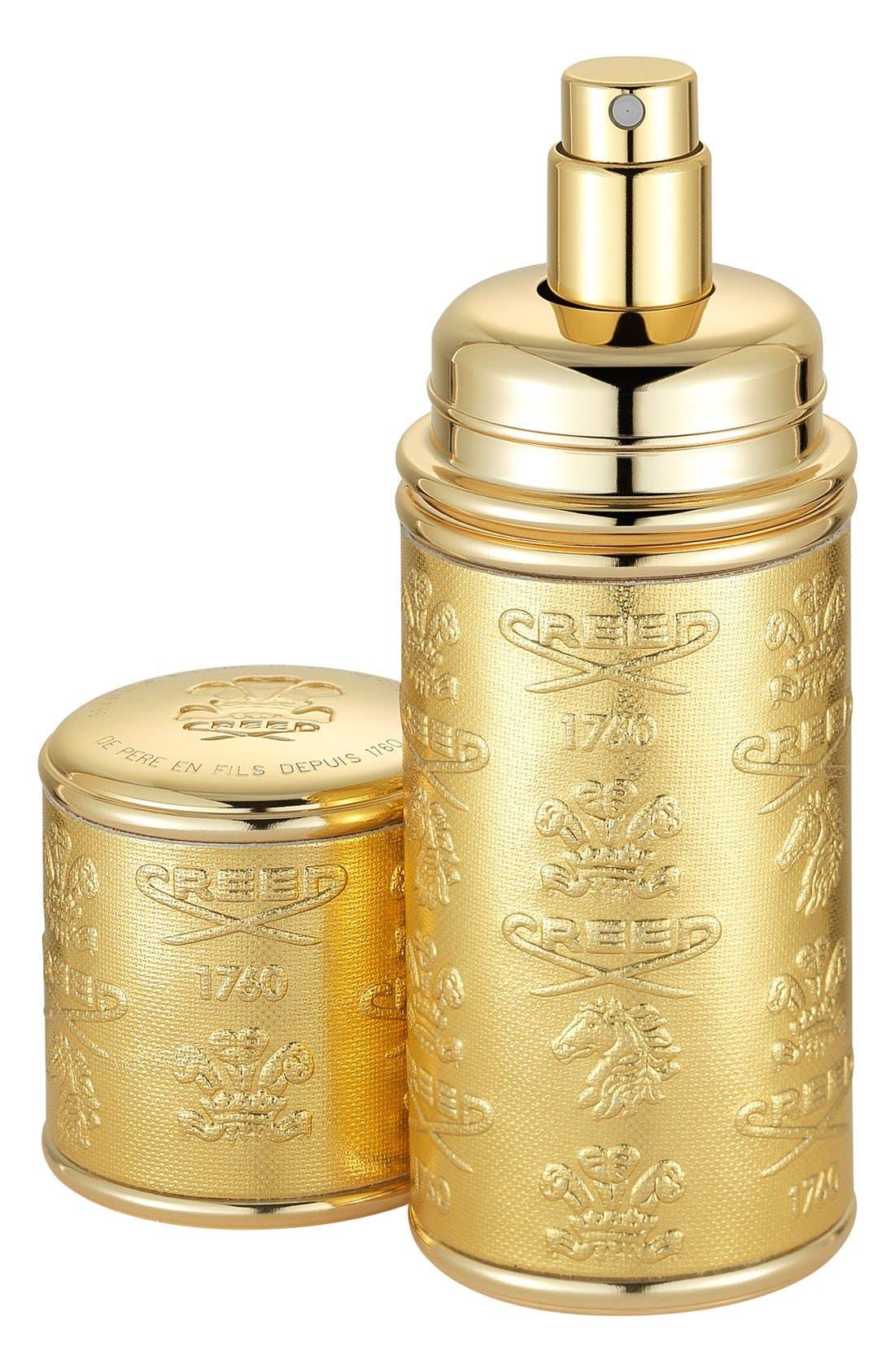 Gold Leather Atomizer,                             Main thumbnail 1, color,                             NO COLOR