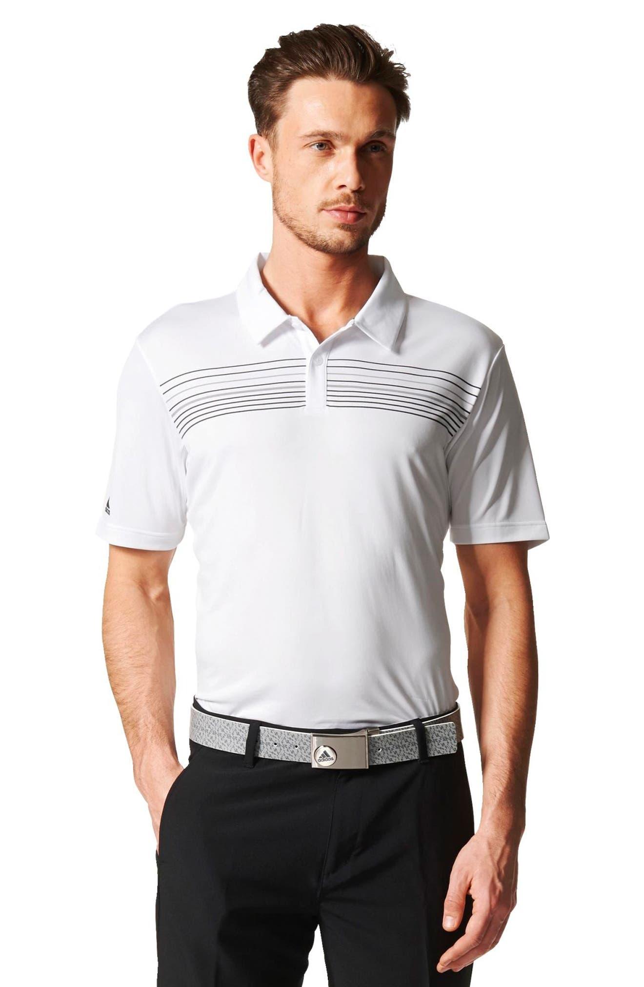 Chest Stripe Golf Polo,                             Alternate thumbnail 5, color,                             100