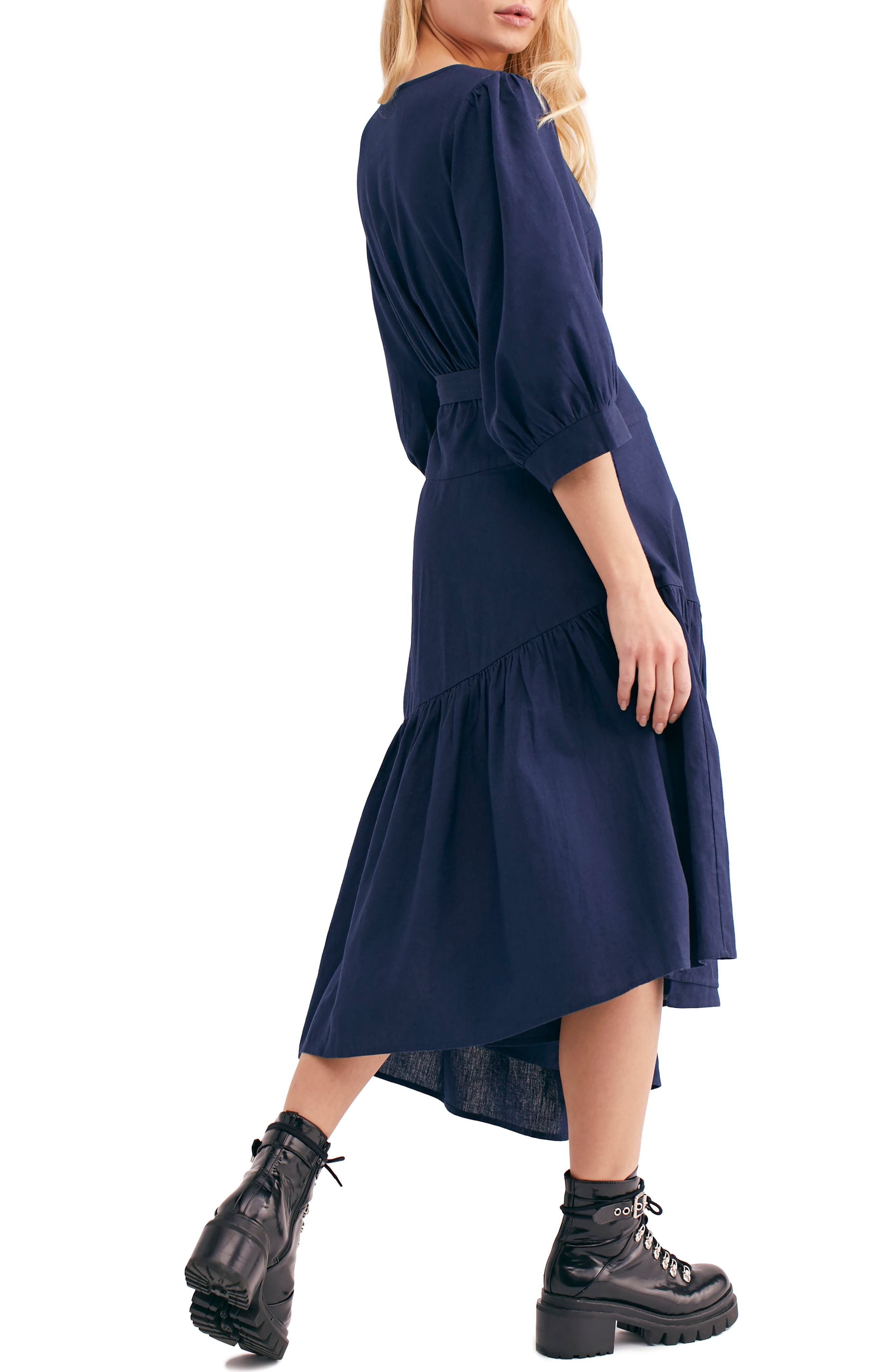 Endless Summer by Free People Don't Mind If I Do Midi Dress,                             Alternate thumbnail 2, color,                             DARK BLUE