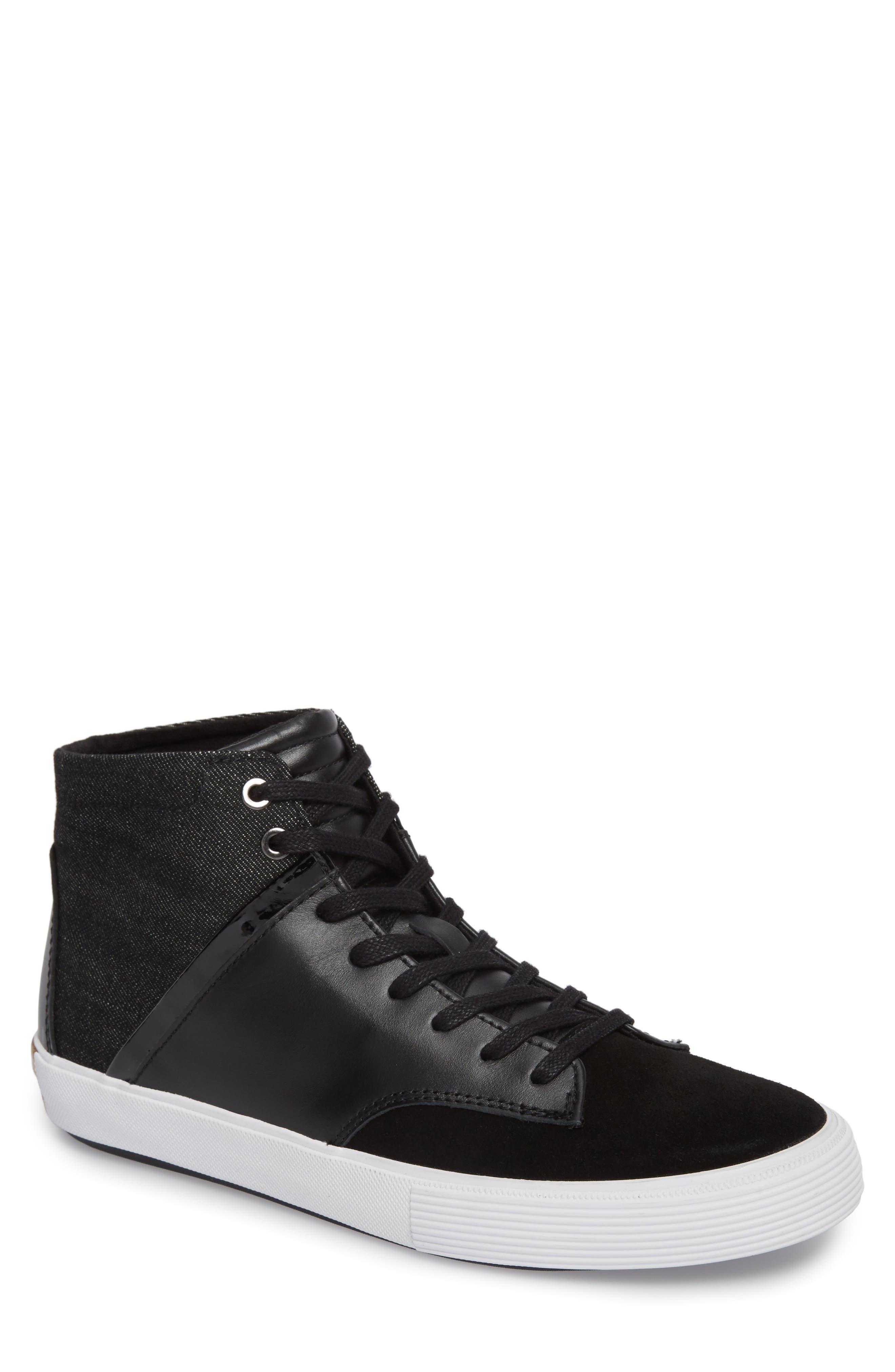 Joe Mac High Top Sneaker,                             Main thumbnail 1, color,                             001