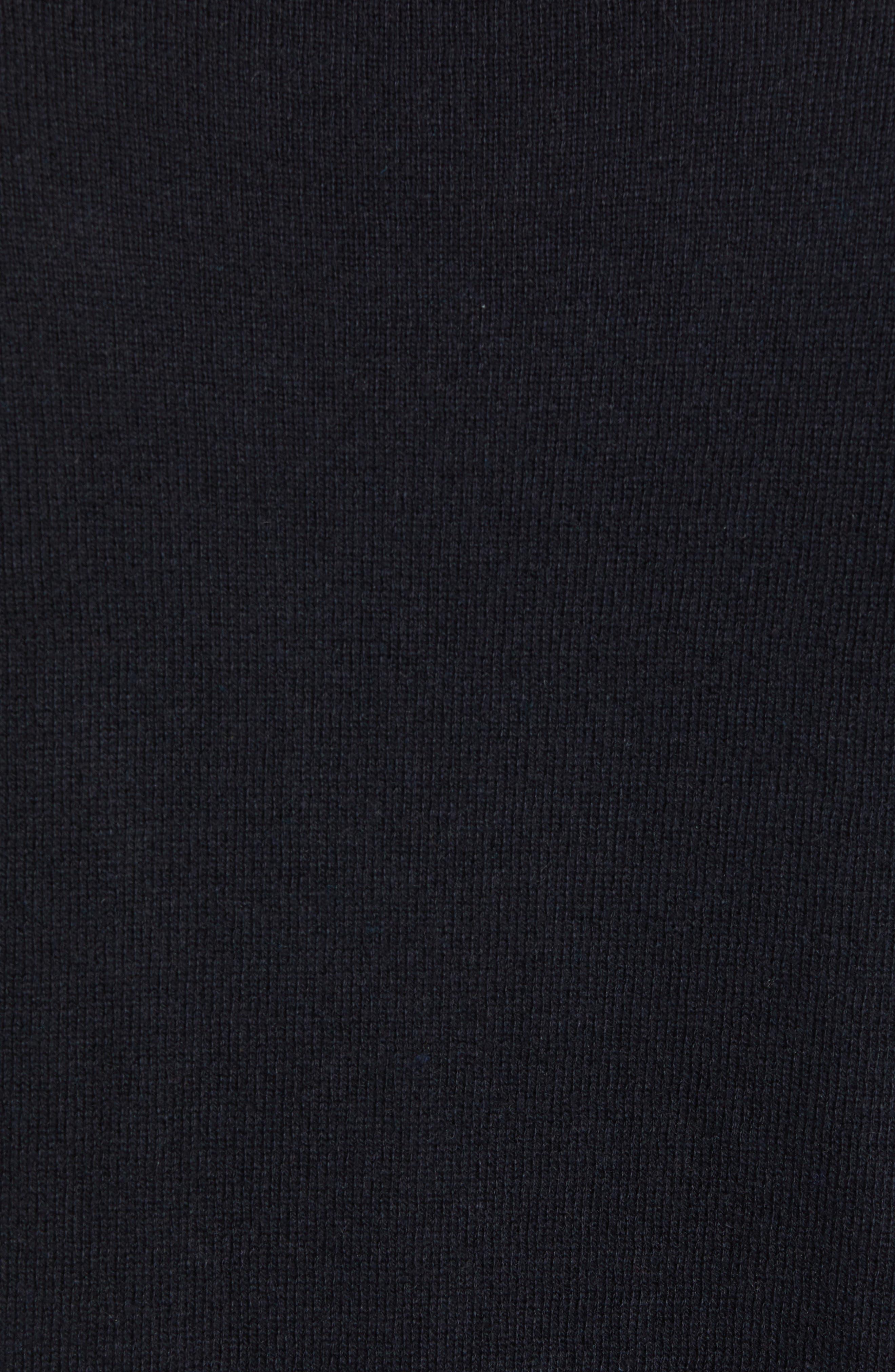 Tournament Slim Fit Crewneck Sweater,                             Alternate thumbnail 5, color,                             BLACK