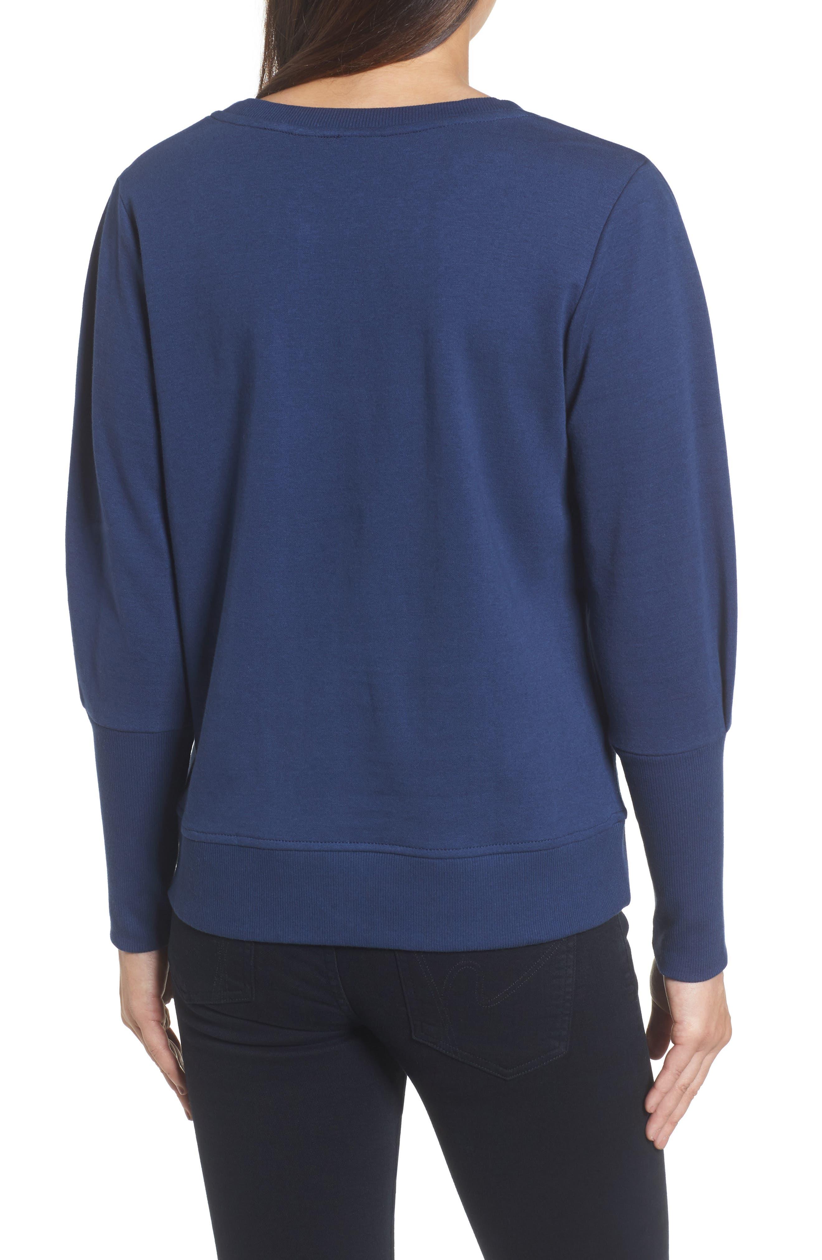 Blouson Sleeve Sweatshirt,                             Alternate thumbnail 9, color,