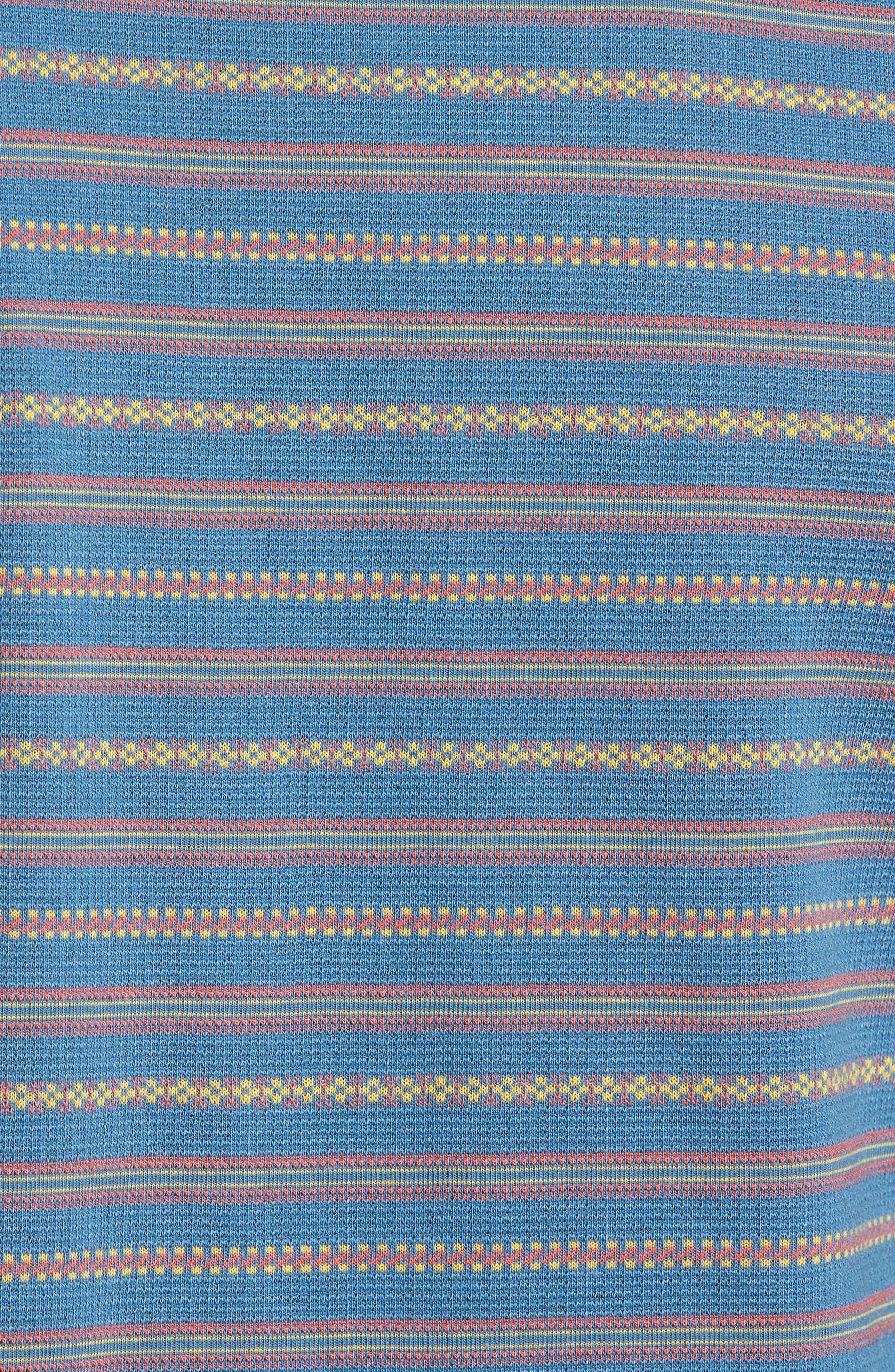 Jacquard Stripe Pocket T-Shirt,                             Alternate thumbnail 5, color,                             420