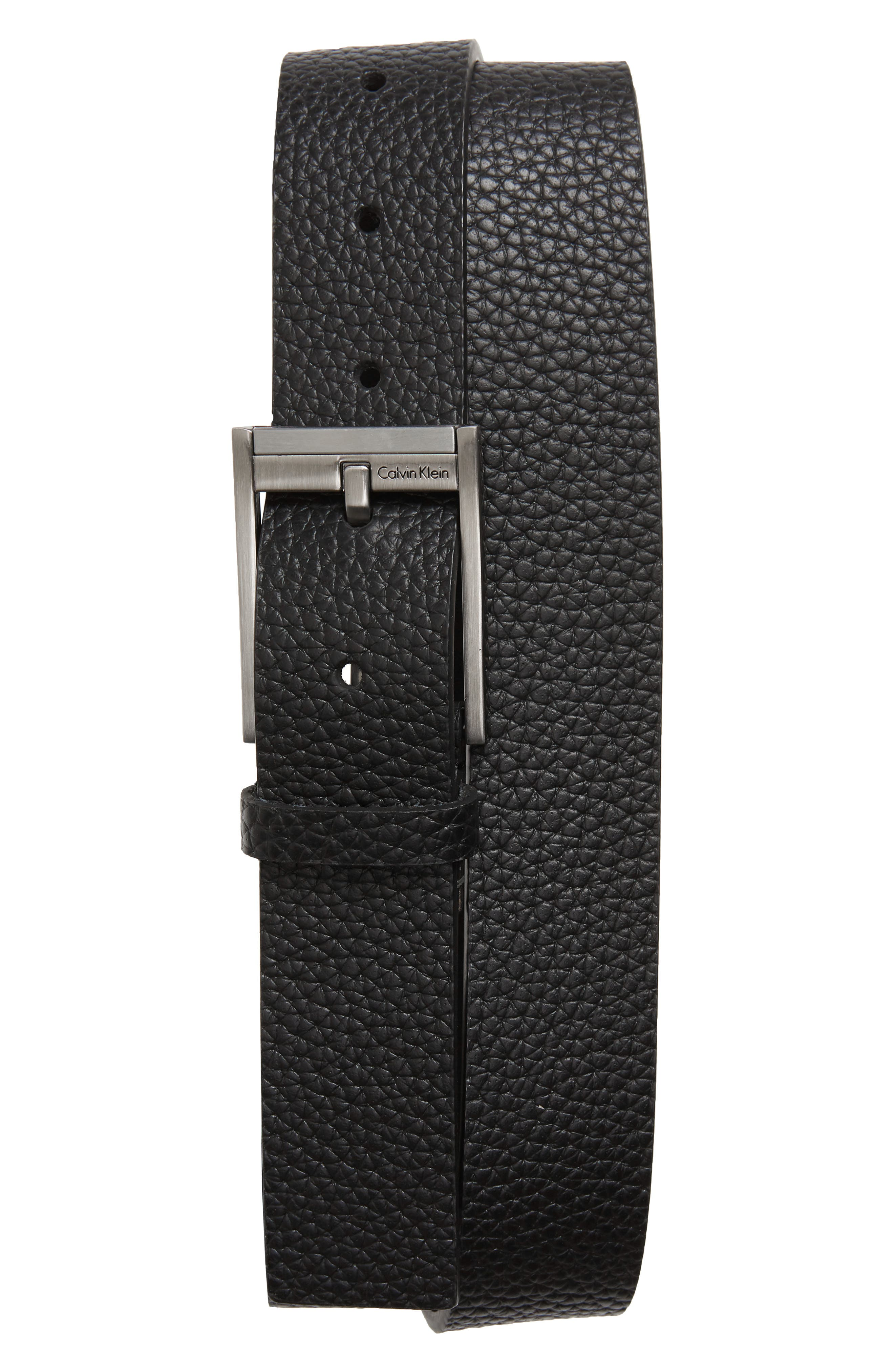 Contemporary Leather Belt,                             Main thumbnail 1, color,                             001