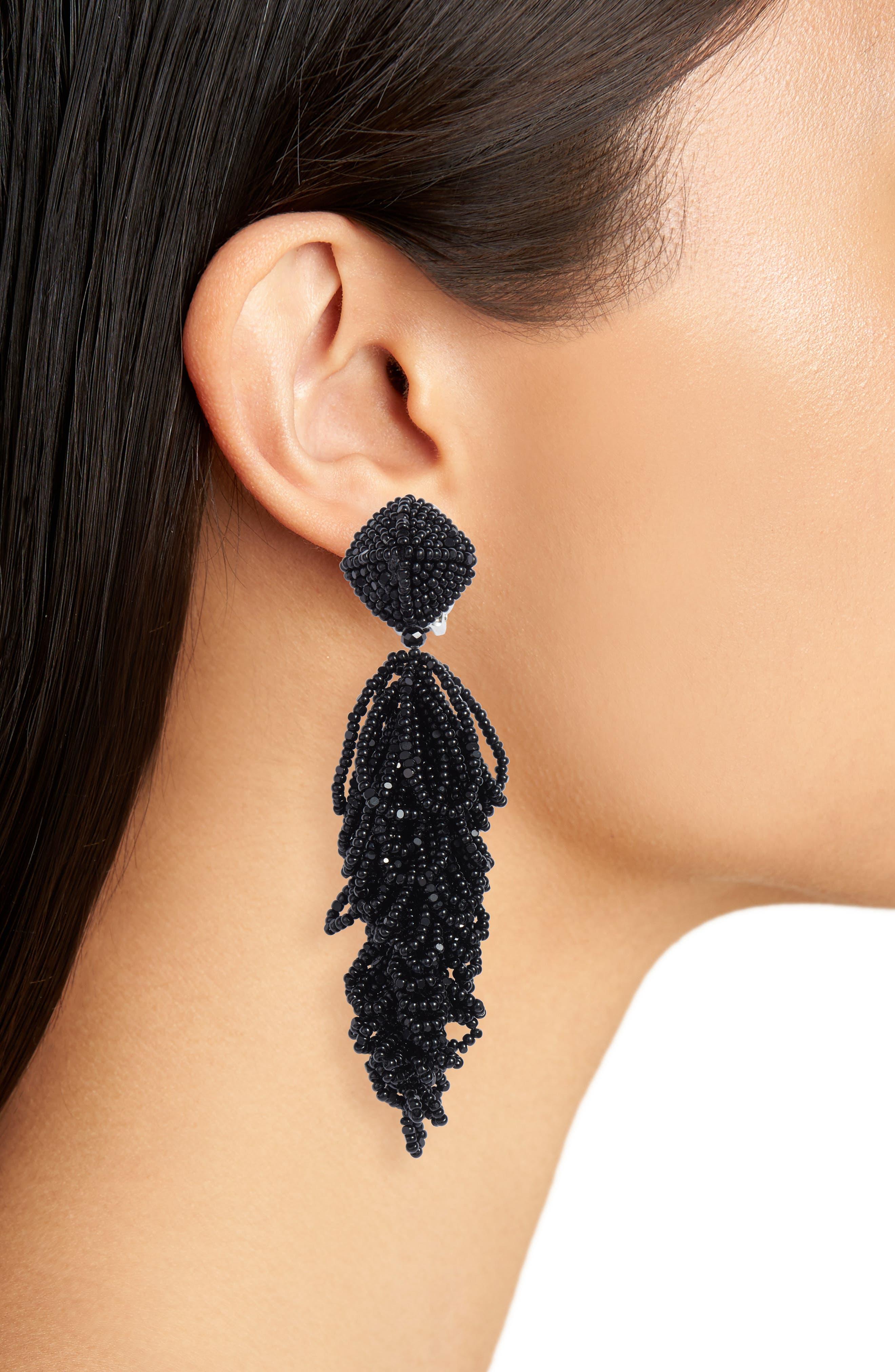 Noir Lulus Earrings,                             Alternate thumbnail 2, color,                             001