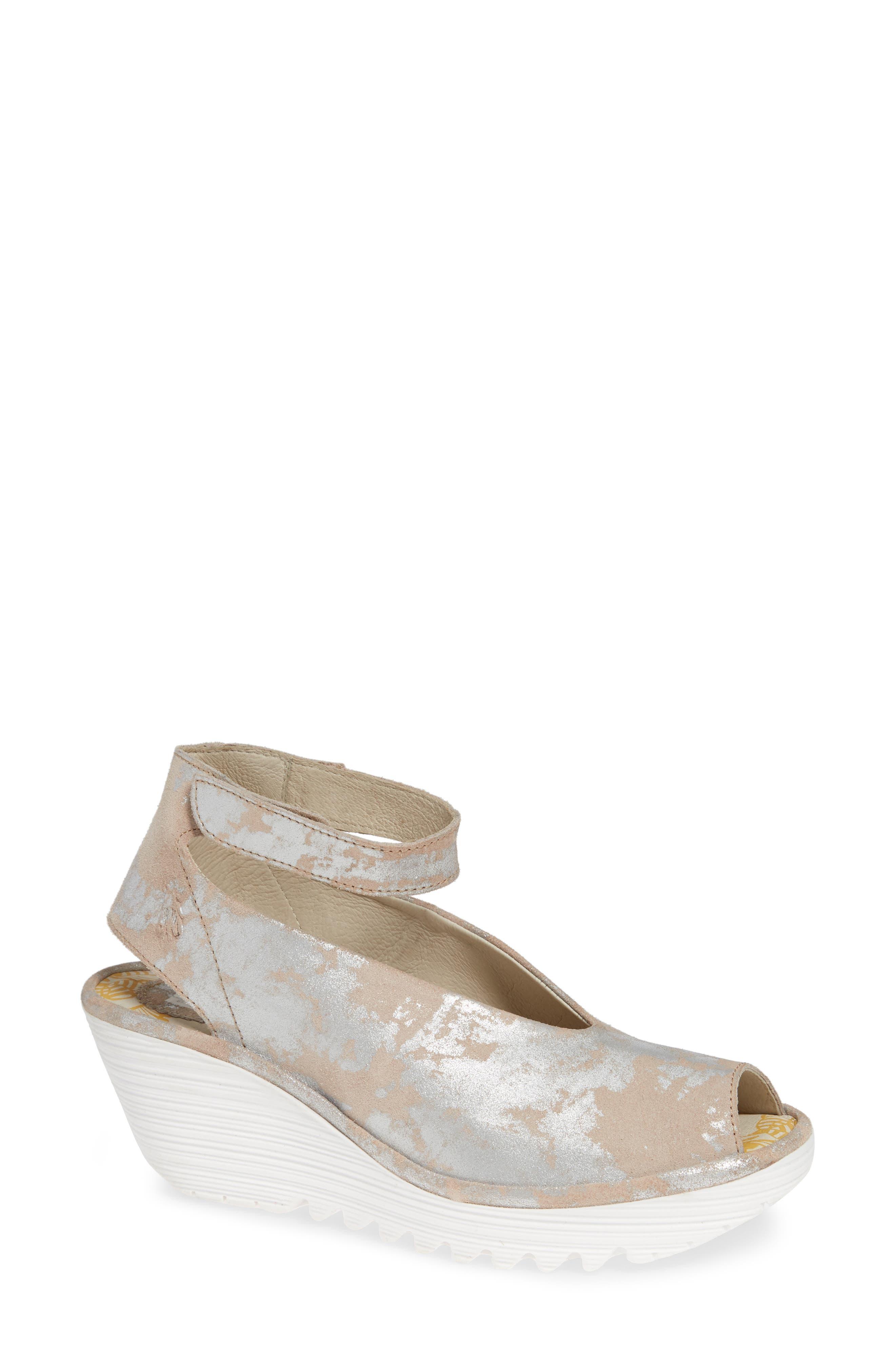 'Yala' Sandal, Main, color, ROSE LEATHER