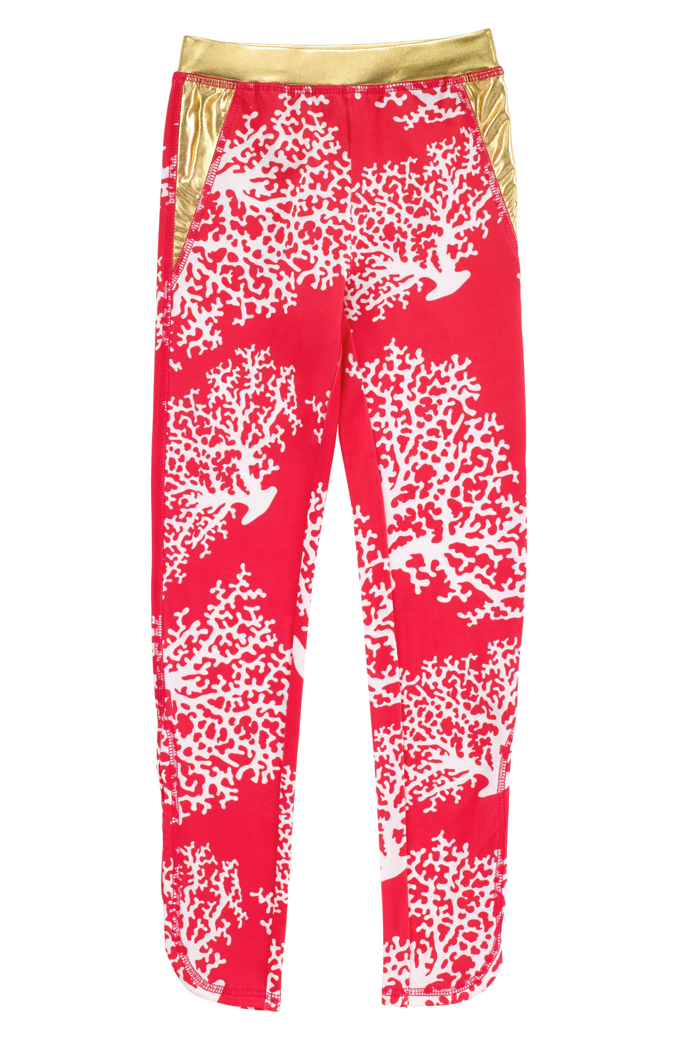 Coral Print Actiplay Leggings,                             Main thumbnail 1, color,                             600