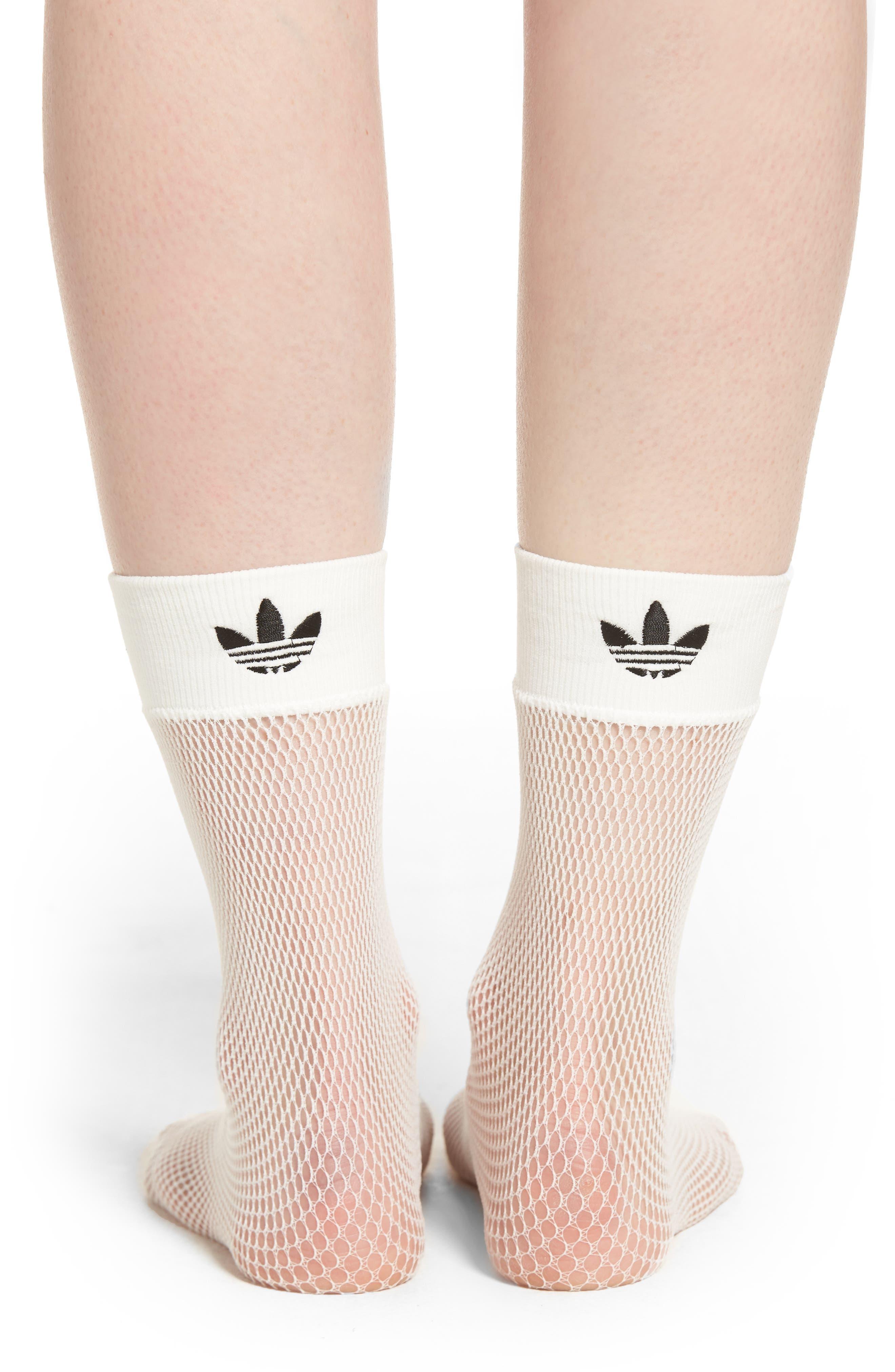 Fishnet Ankle Socks,                             Alternate thumbnail 2, color,                             WHITE