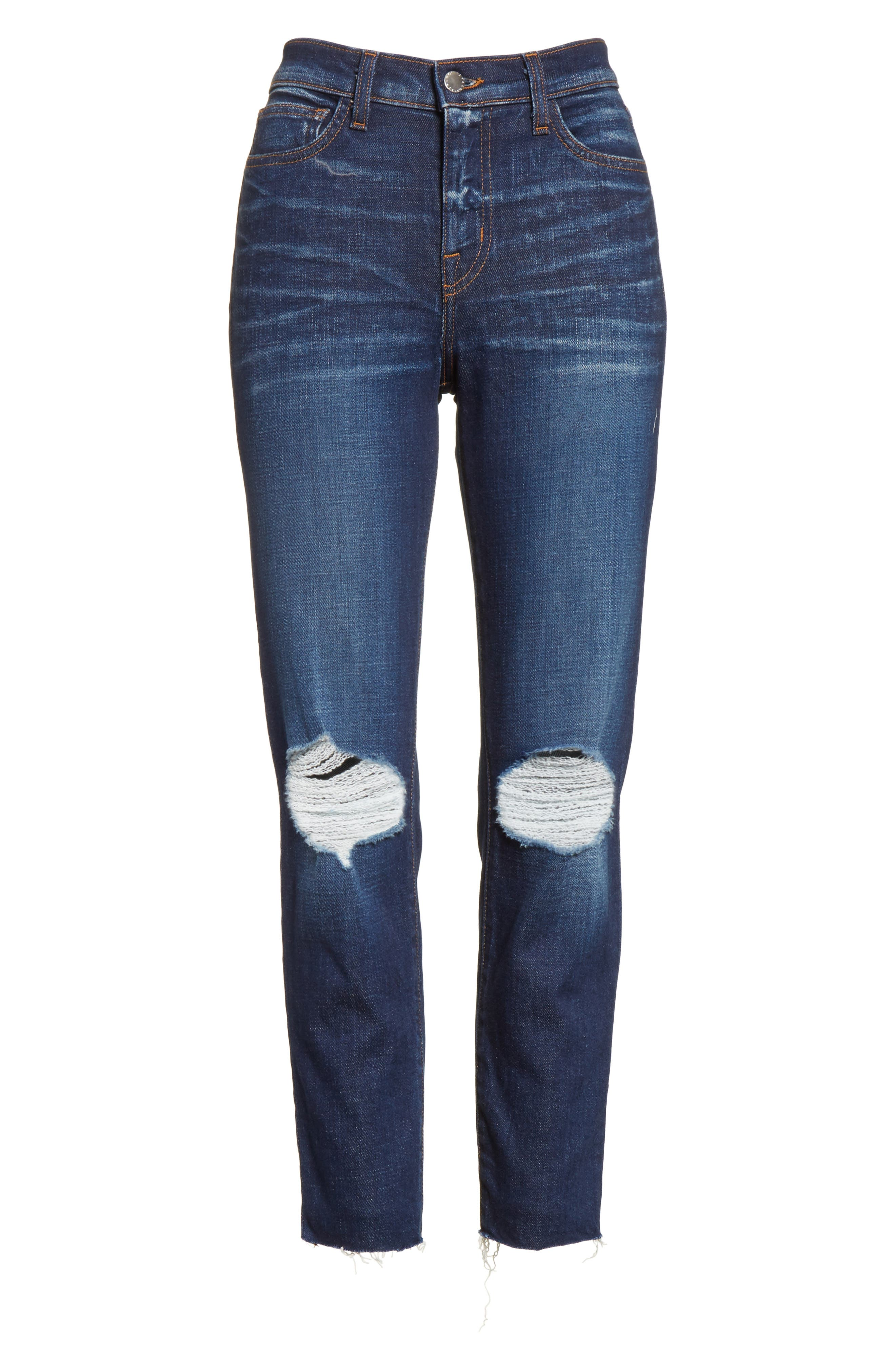 Abigail French Slim Ripped Skinny Jeans,                             Alternate thumbnail 6, color,                             401