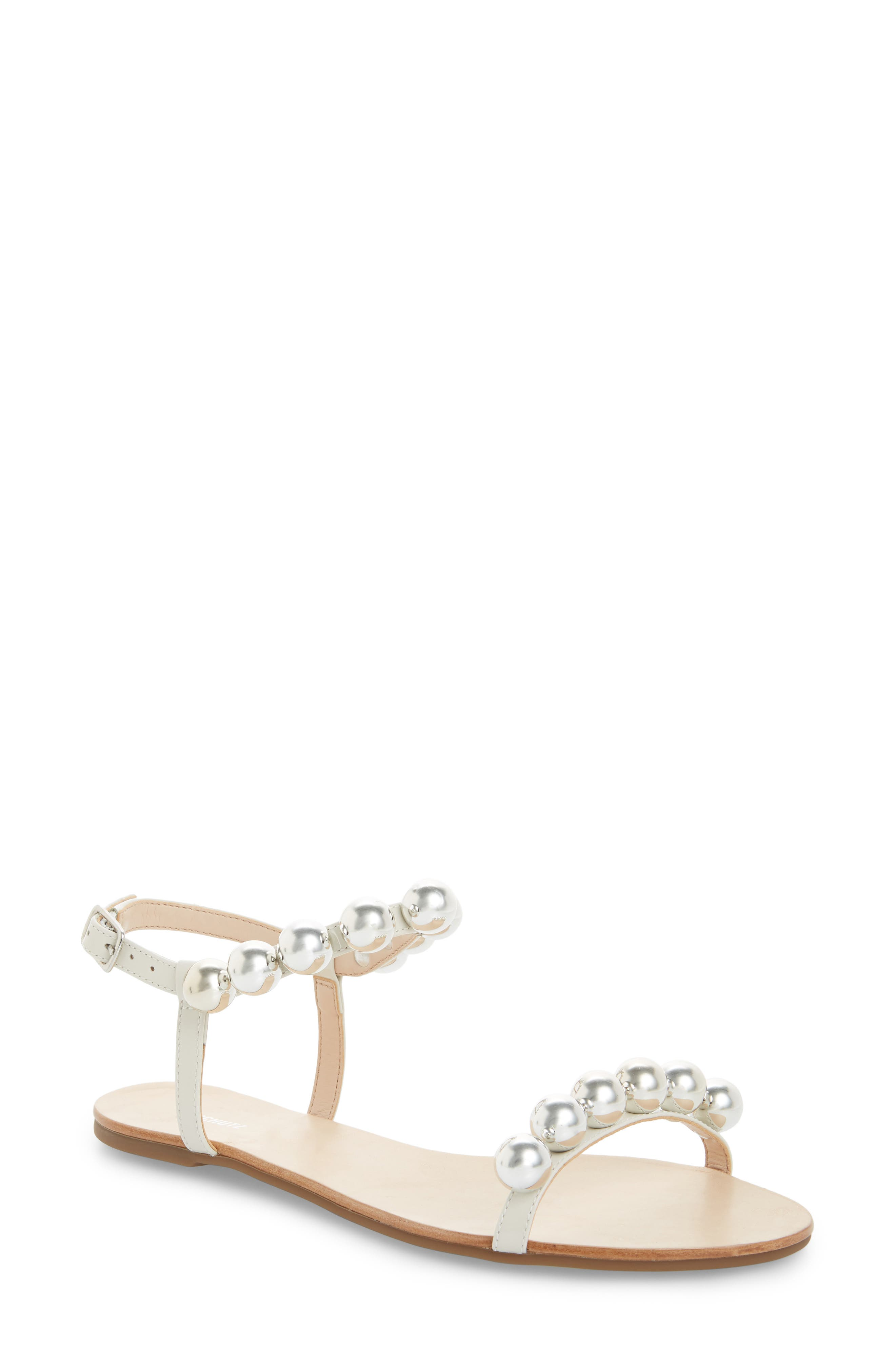 Hebe Ankle Strap Sandal,                             Main thumbnail 1, color,                             PEARL LEATHER