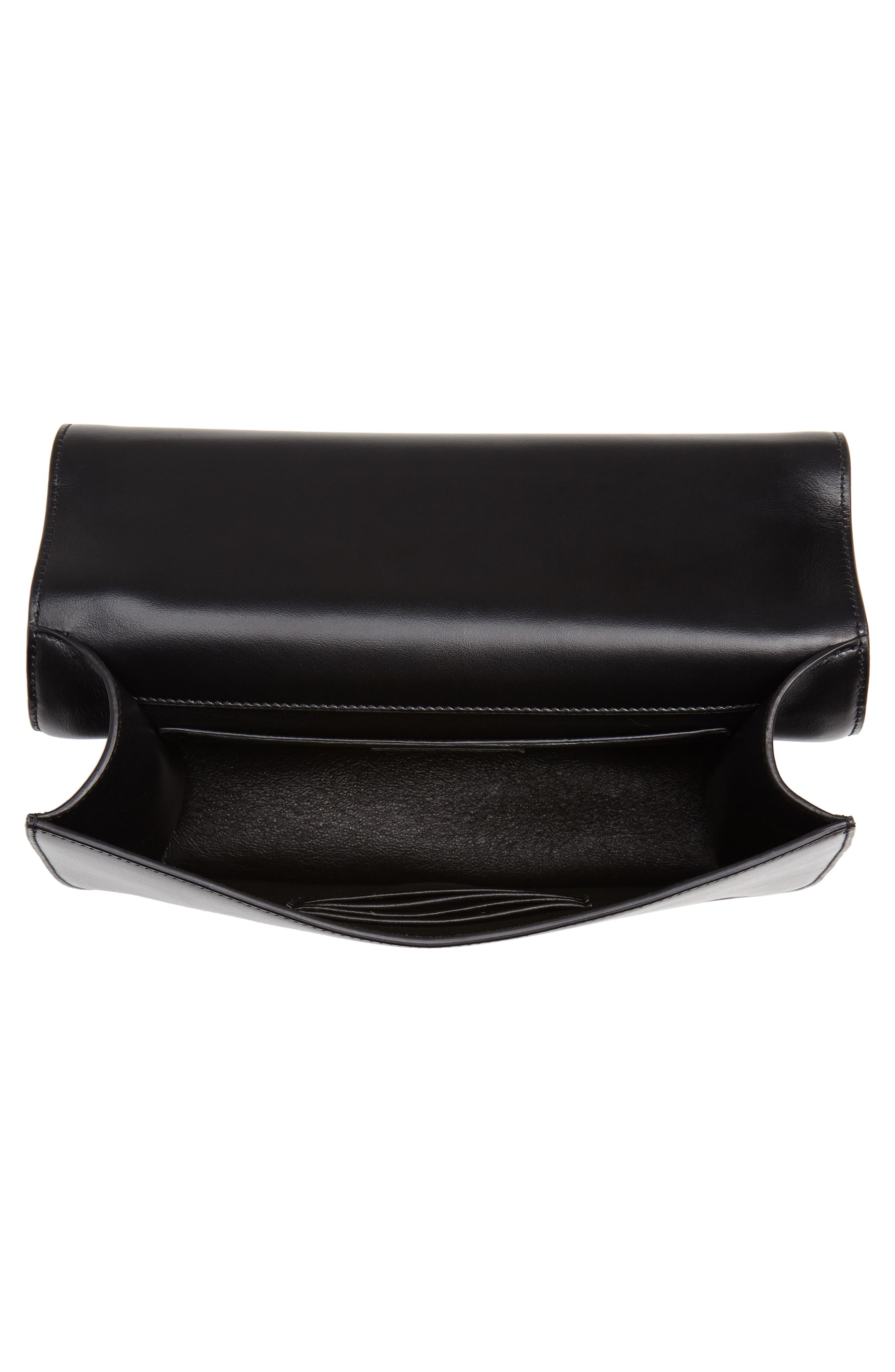 Medium Spontini Leather Shoulder Bag,                             Alternate thumbnail 4, color,                             NERO