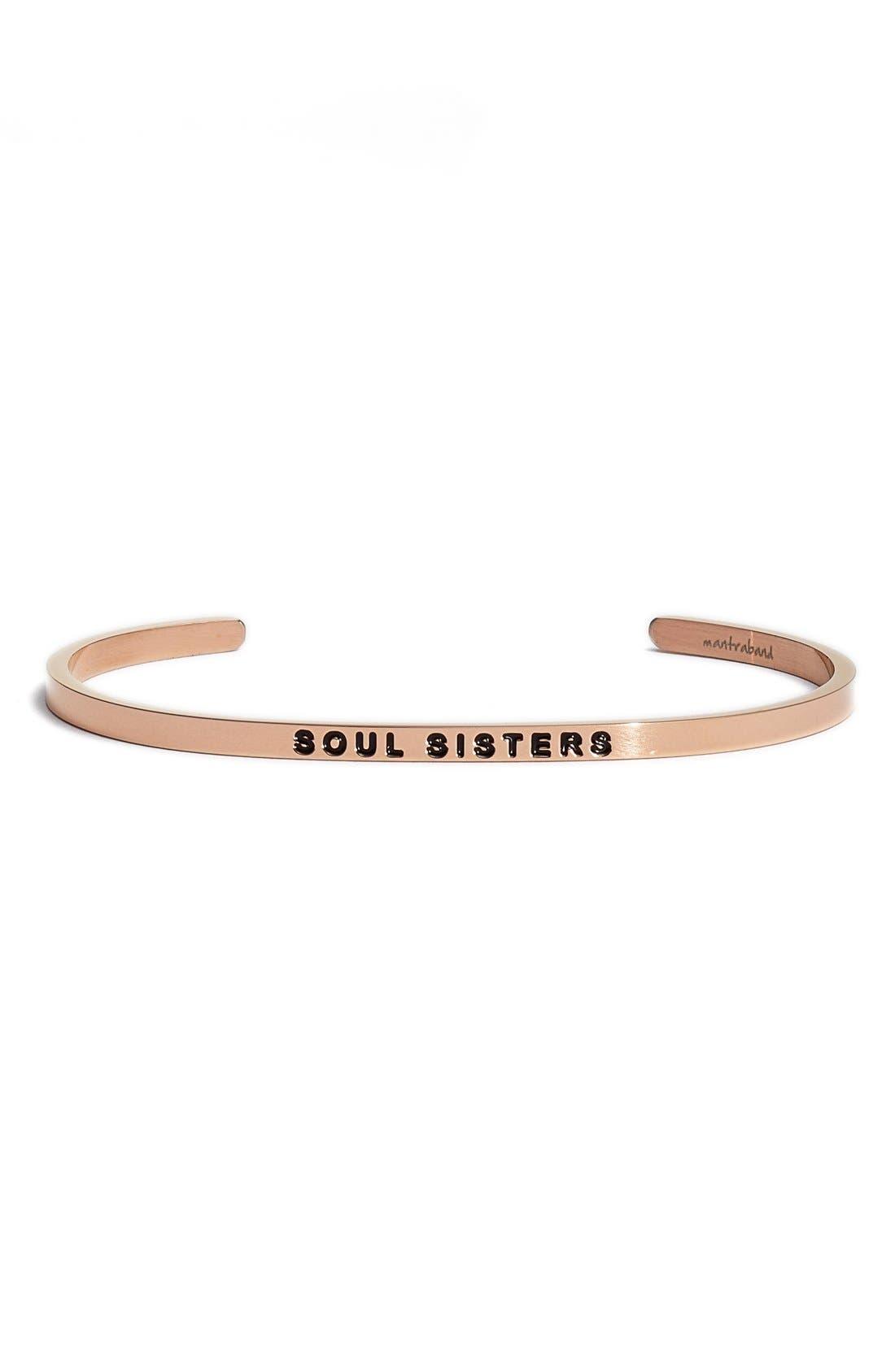 'Soul Sister' Cuff,                             Main thumbnail 1, color,                             ROSEGOLD