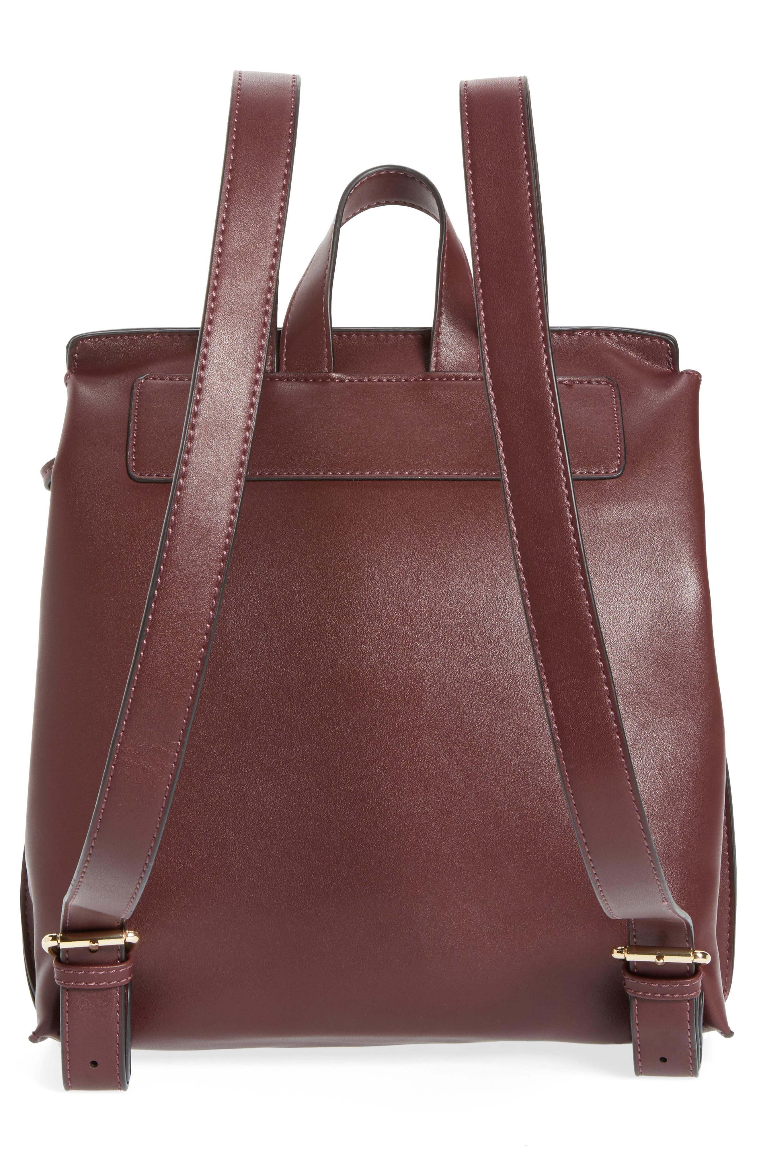 Selena Faux Leather Backpack,                             Alternate thumbnail 12, color,