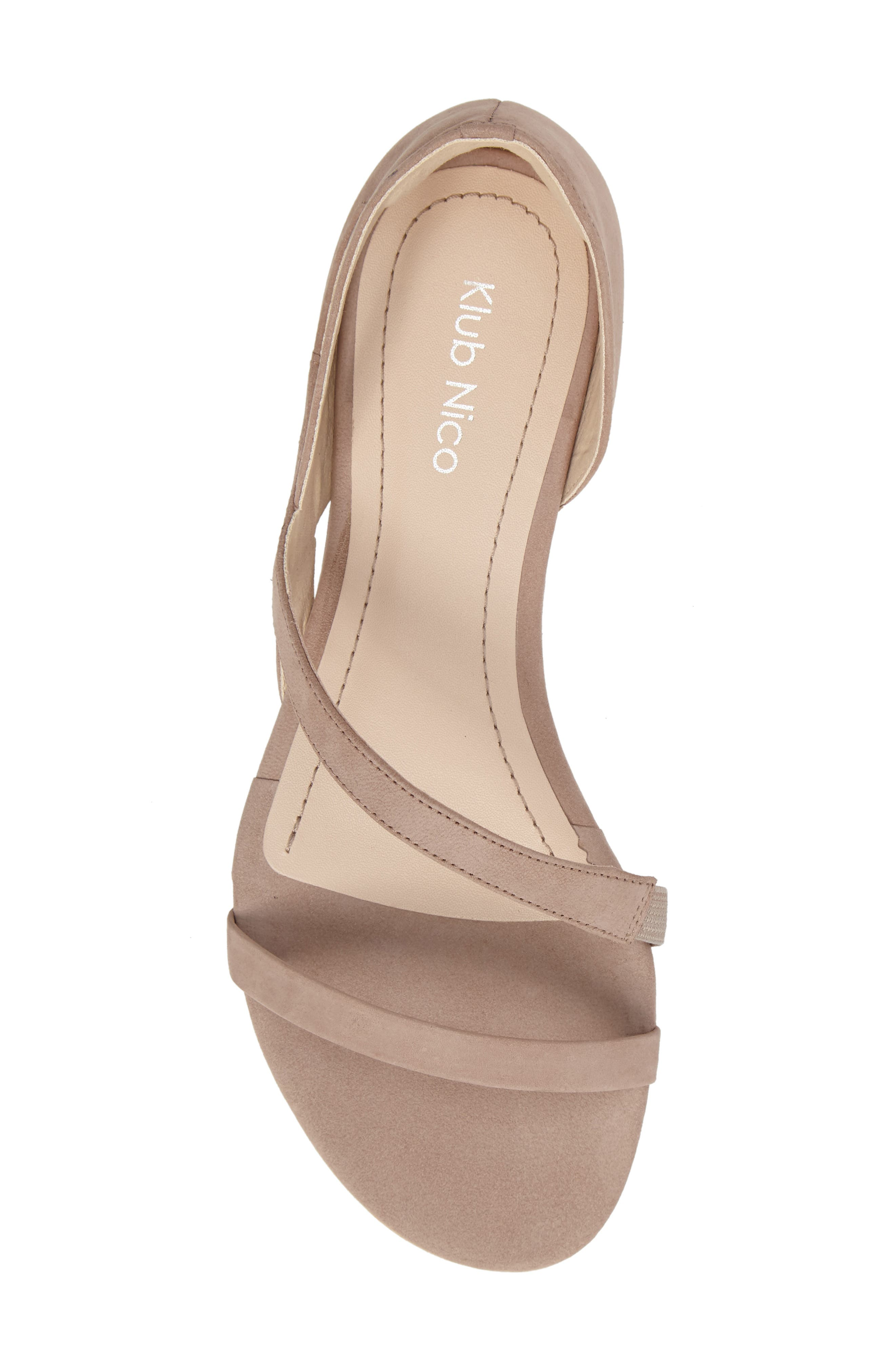 Jeanne Sandal,                             Alternate thumbnail 5, color,                             TAUPE LEATHER