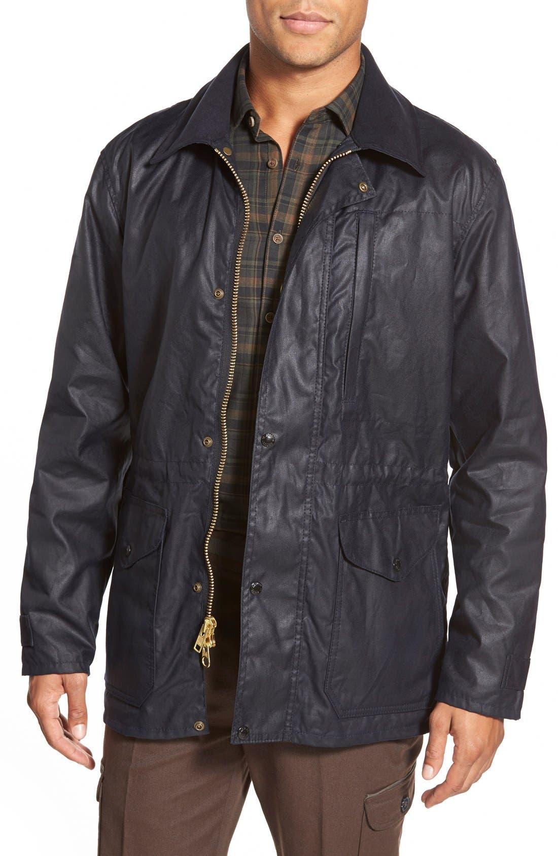 'Cover Cloth Mile Marker' Waxed Cotton Coat,                             Main thumbnail 3, color,