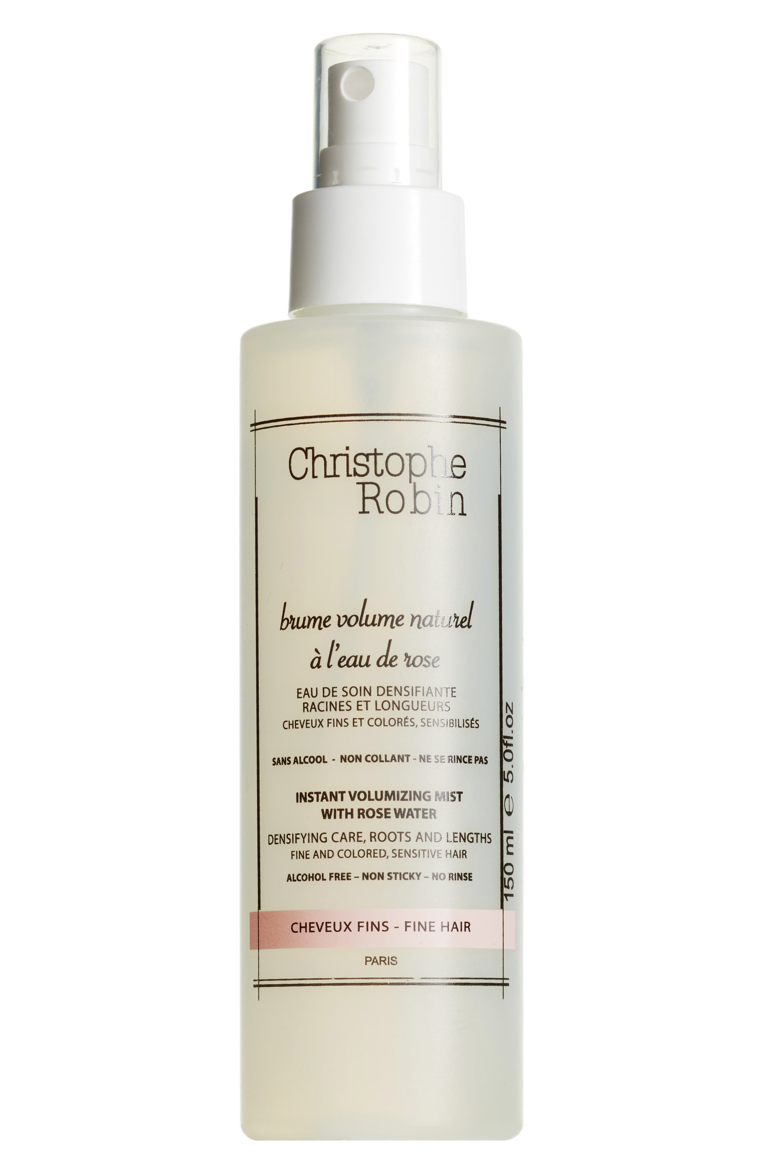 SPACE.NK.apothecary Christophe Robin Instant Volumizing Mist with Rosewater,                             Main thumbnail 1, color,                             NO COLOR