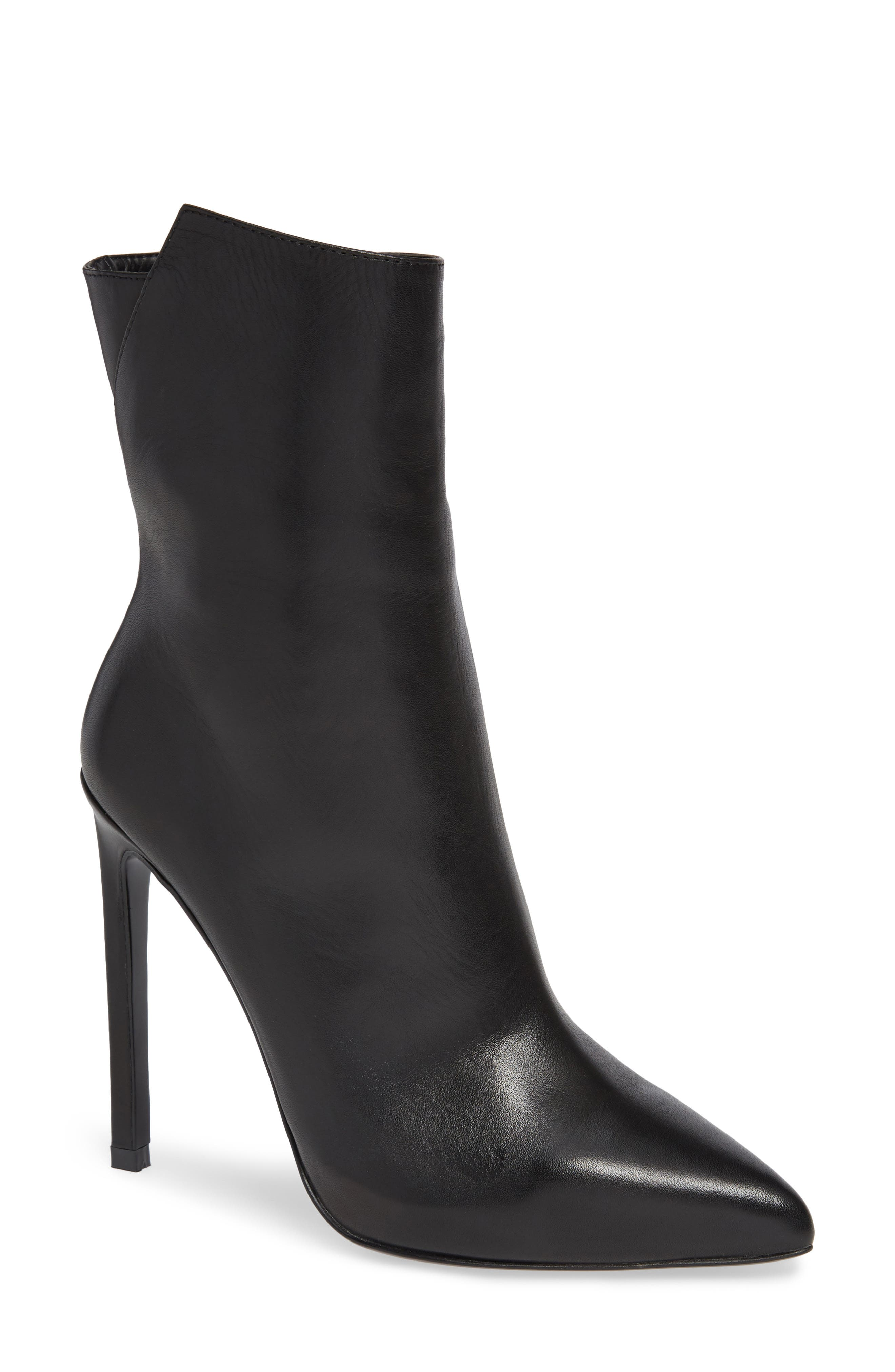 TONY BIANCO Frappe Bootie in Black Como Leather