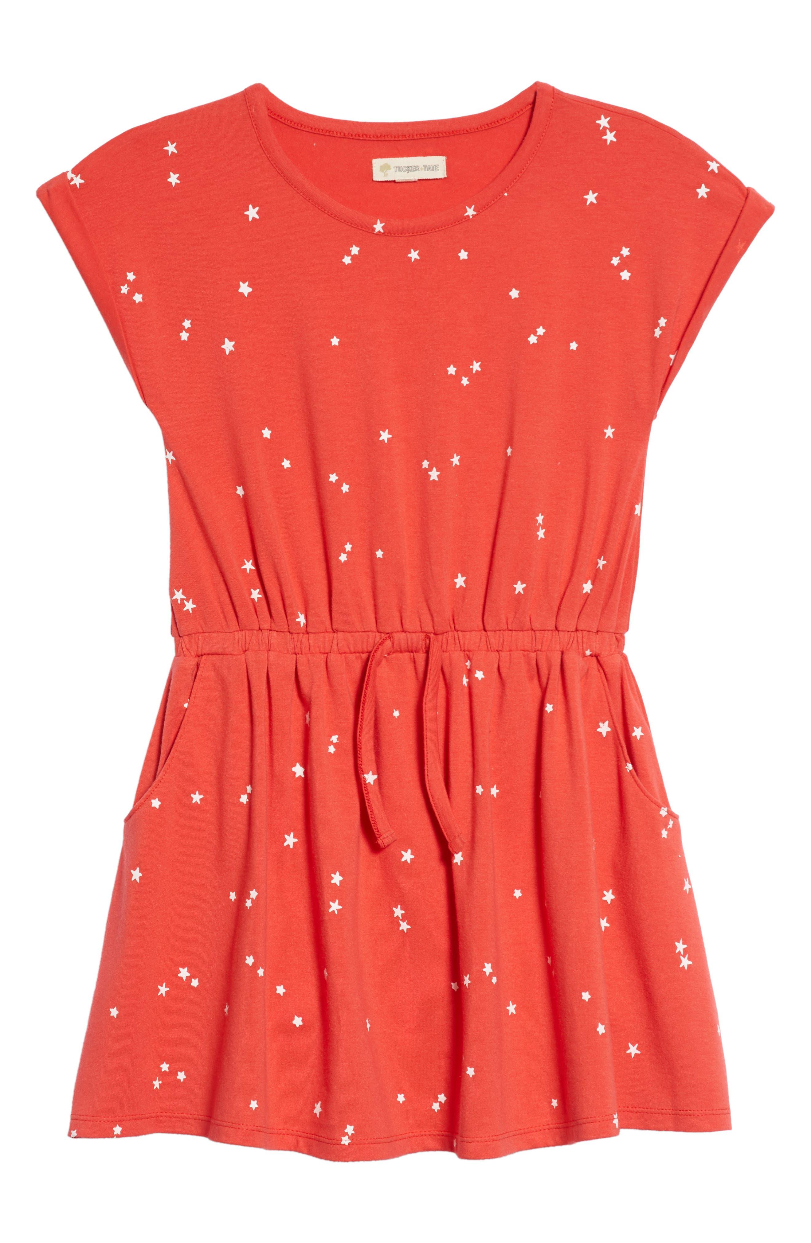 Print Skater Dress,                         Main,                         color, 610