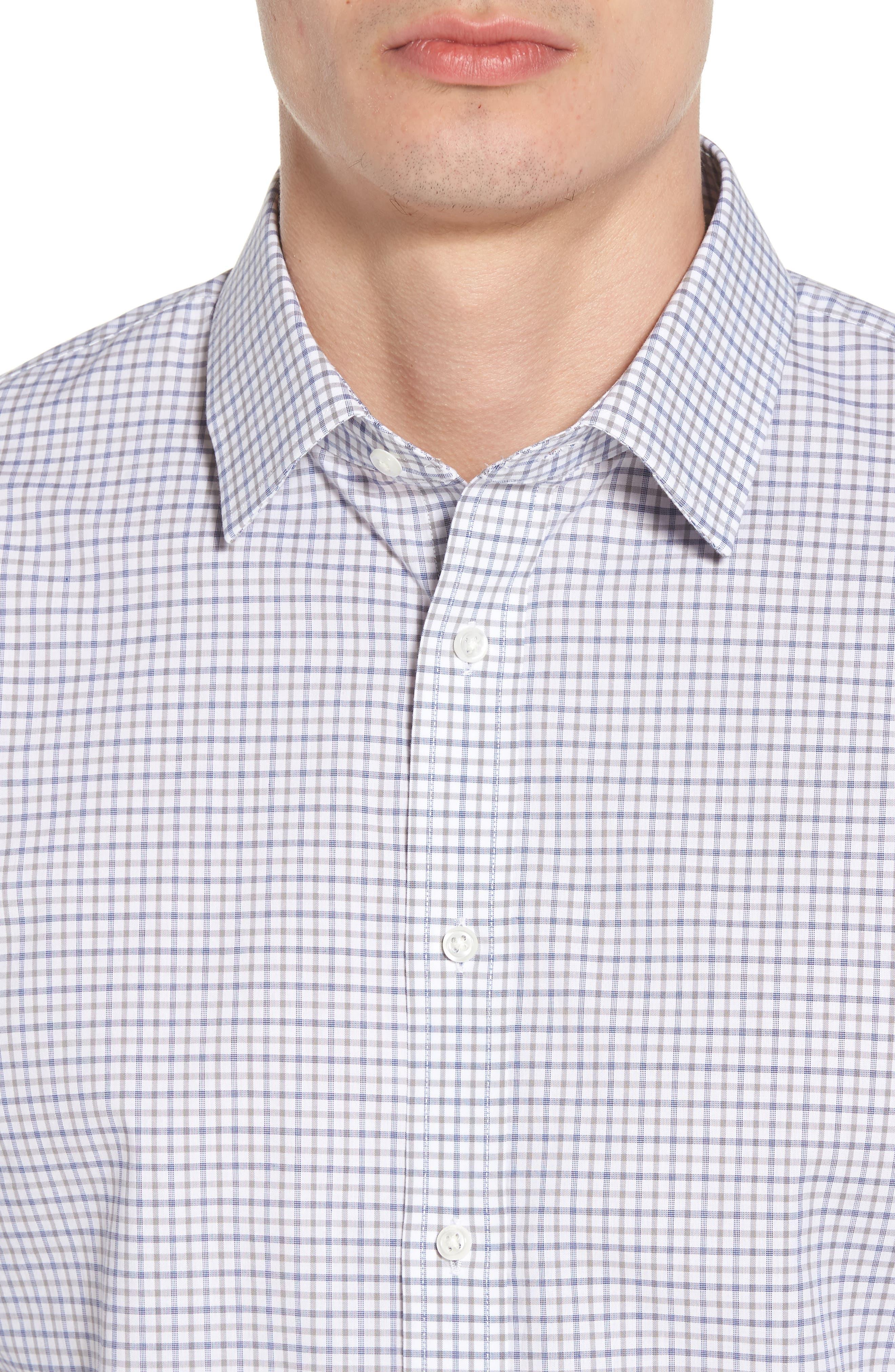 Trim Fit Check Dress Shirt,                             Alternate thumbnail 2, color,                             050