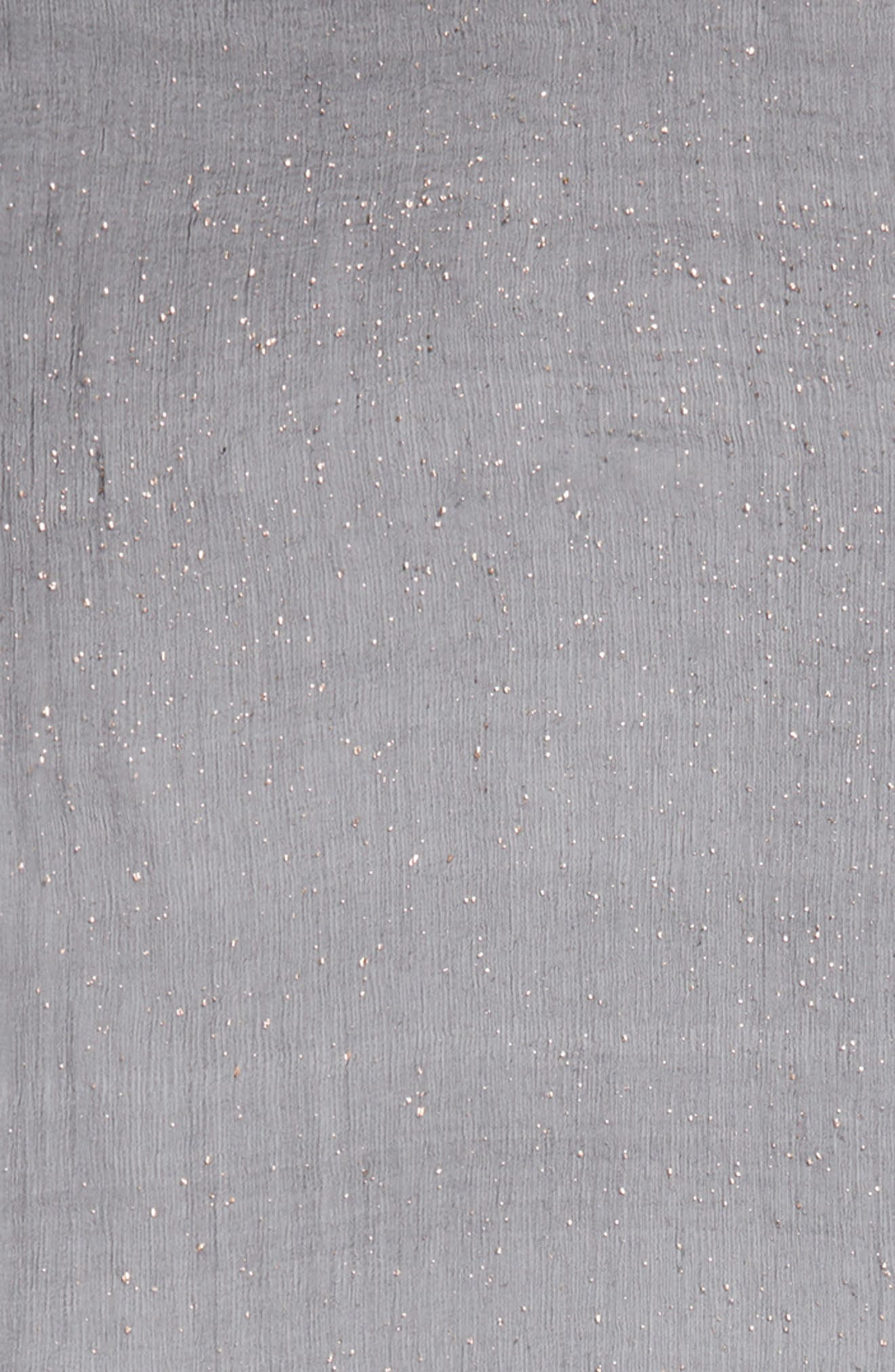 Metallic Fleck Silk Scarf,                             Alternate thumbnail 4, color,