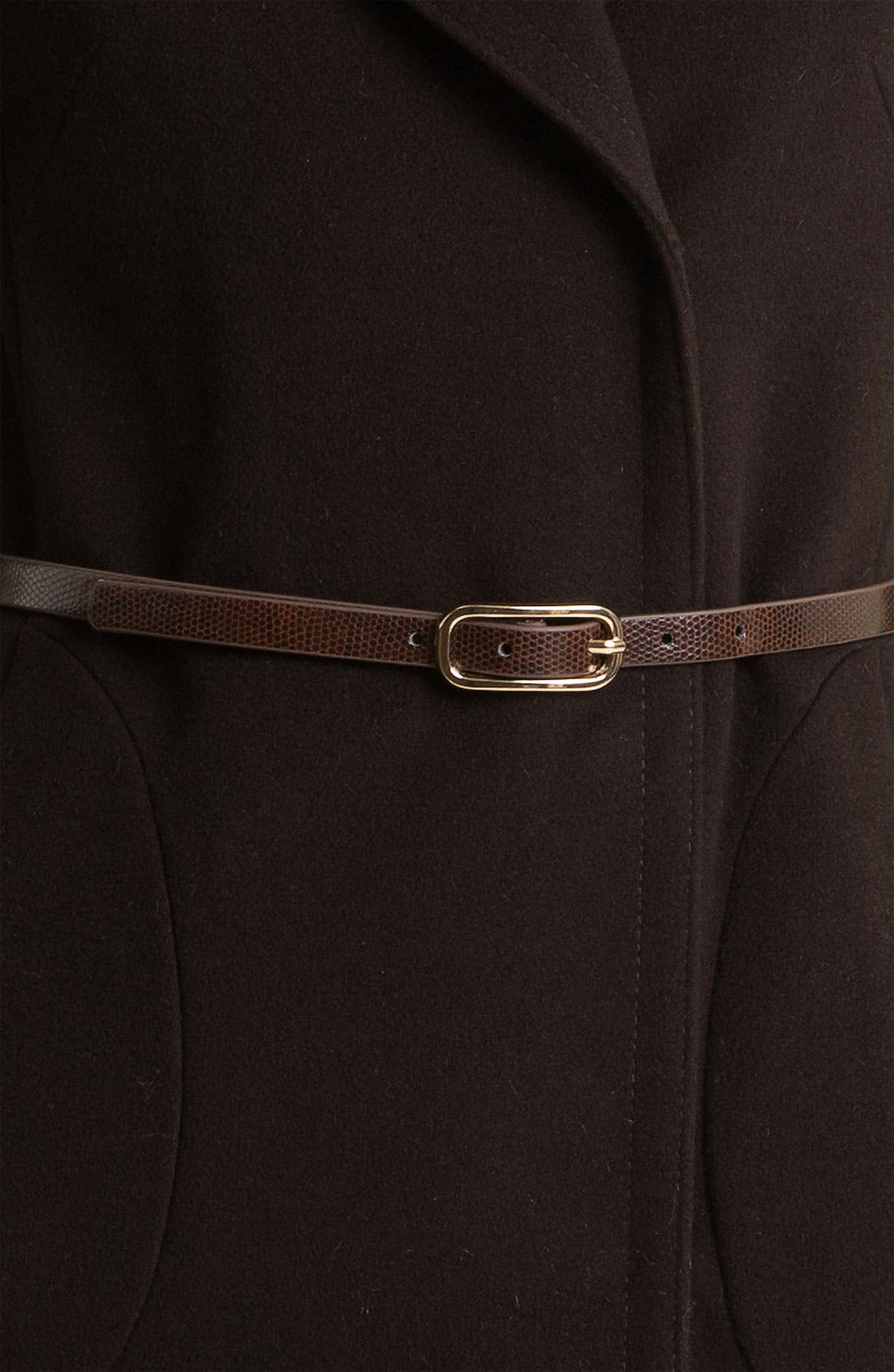 'Kate' Belted Notch Collar Coat,                             Alternate thumbnail 2, color,                             200
