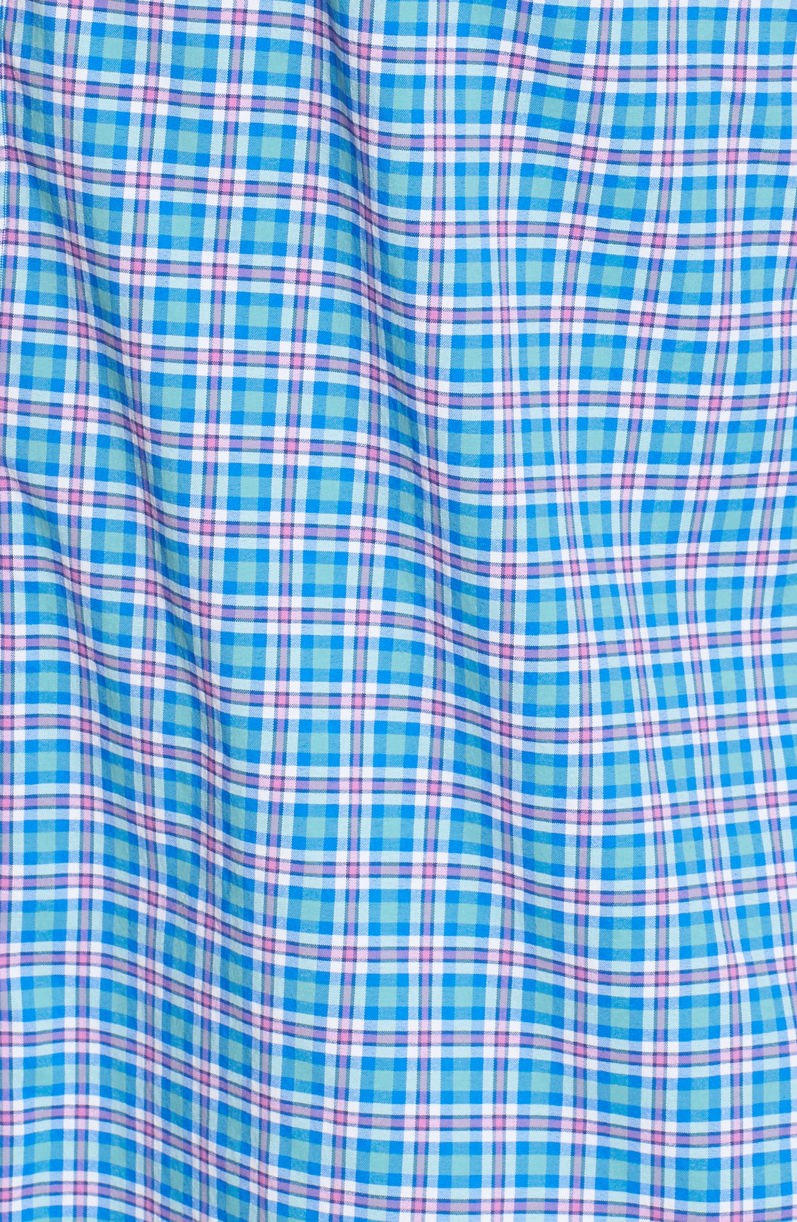 Tucker Union Pier Plaid Performance Sport Shirt,                             Alternate thumbnail 5, color,                             438