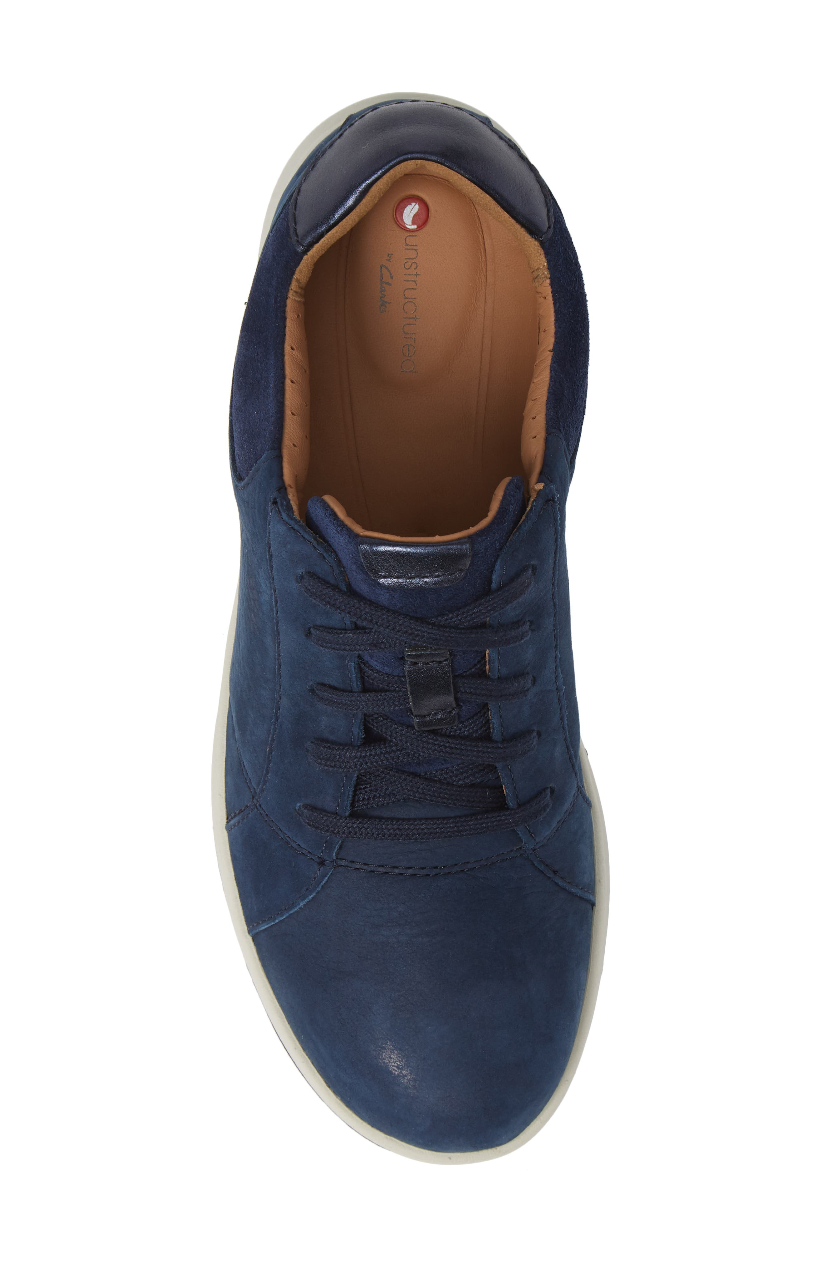 UnAdorn Lace-Up Sneaker,                             Alternate thumbnail 5, color,                             NAVY NUBUCK