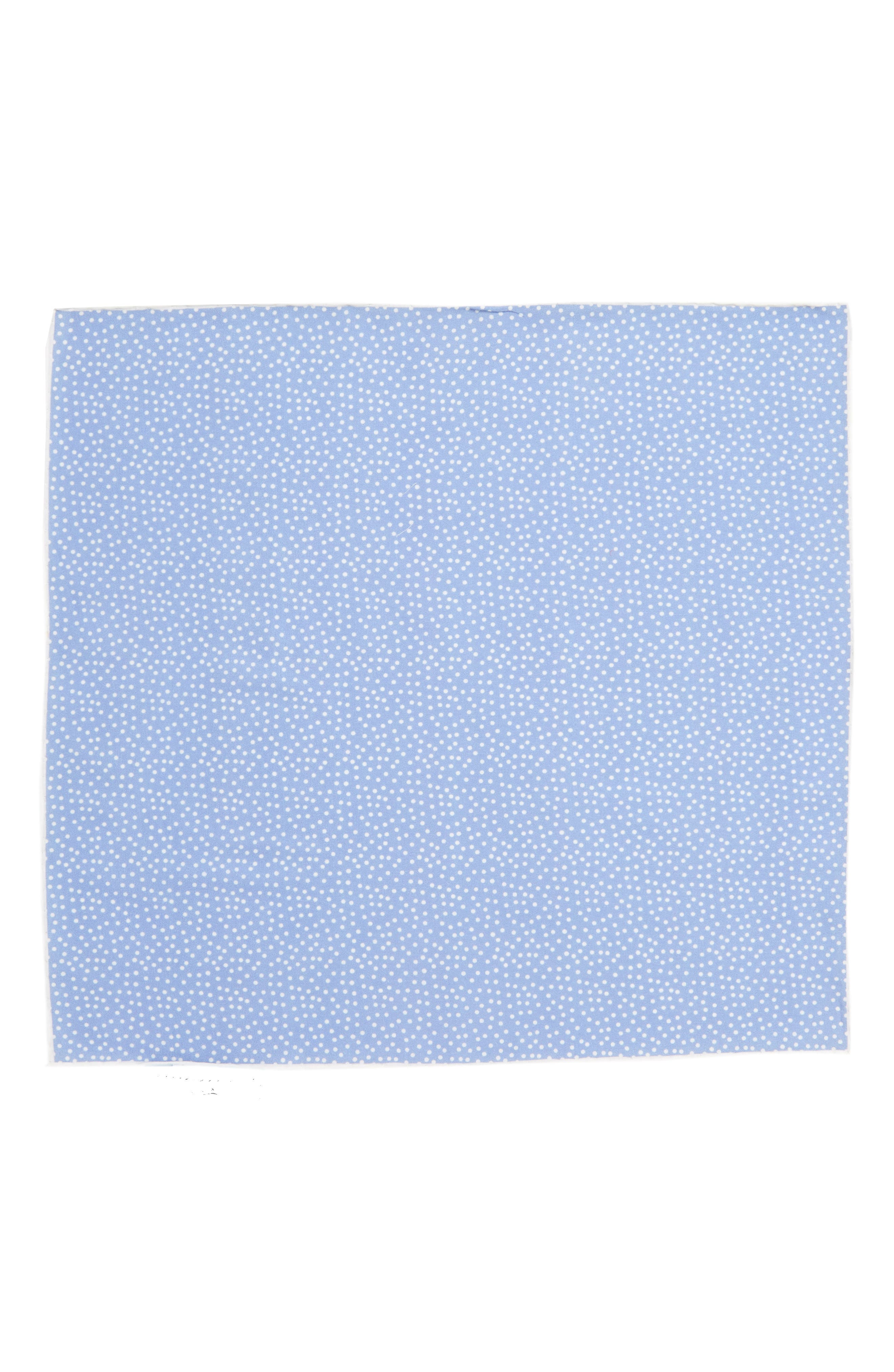 SOUTHERN TIDE,                             Sagamore Spots Cotton & Silk Pocket Square,                             Alternate thumbnail 2, color,                             BLUE