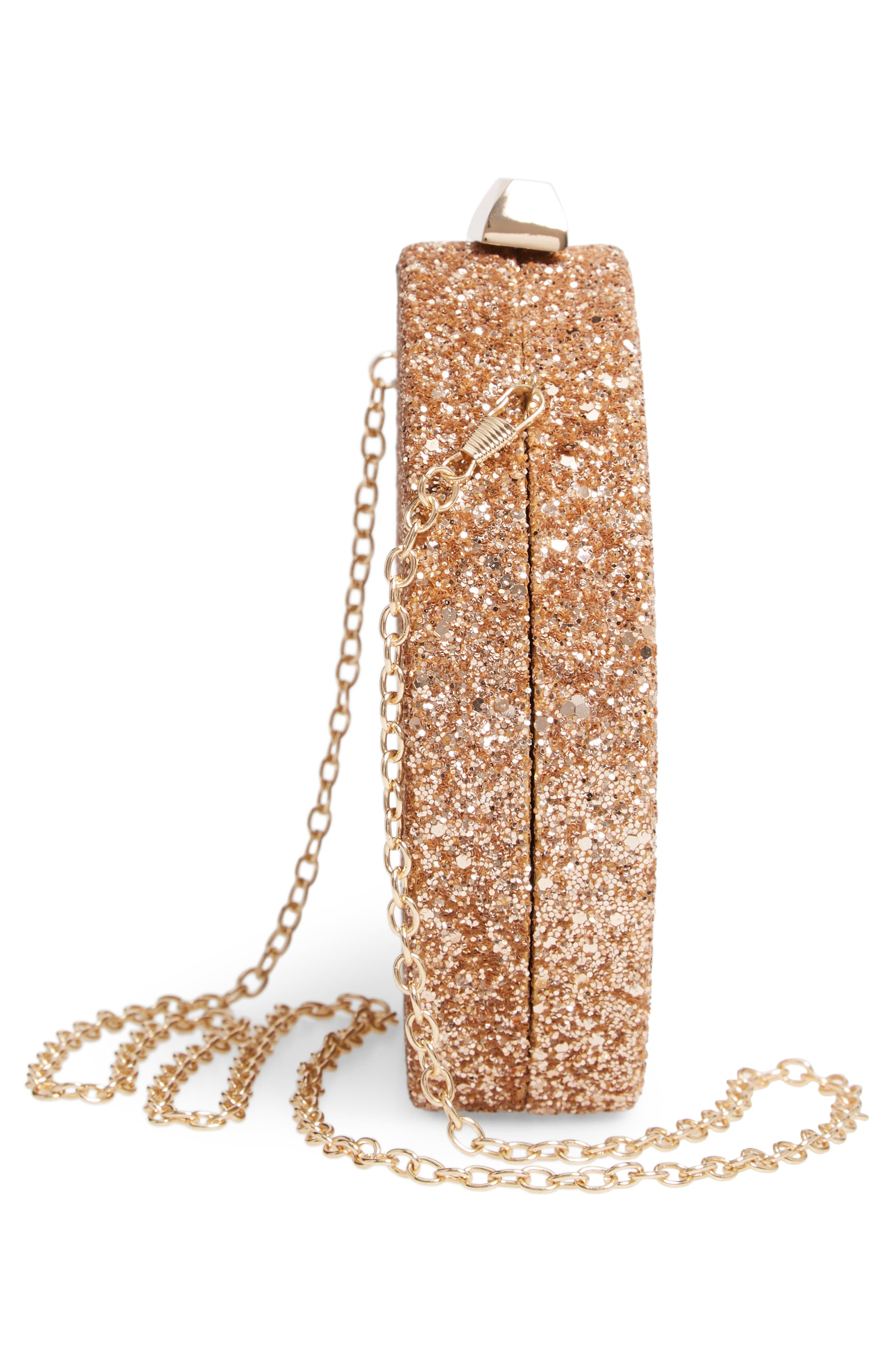 Glitter Clutch,                             Alternate thumbnail 5, color,                             GOLD