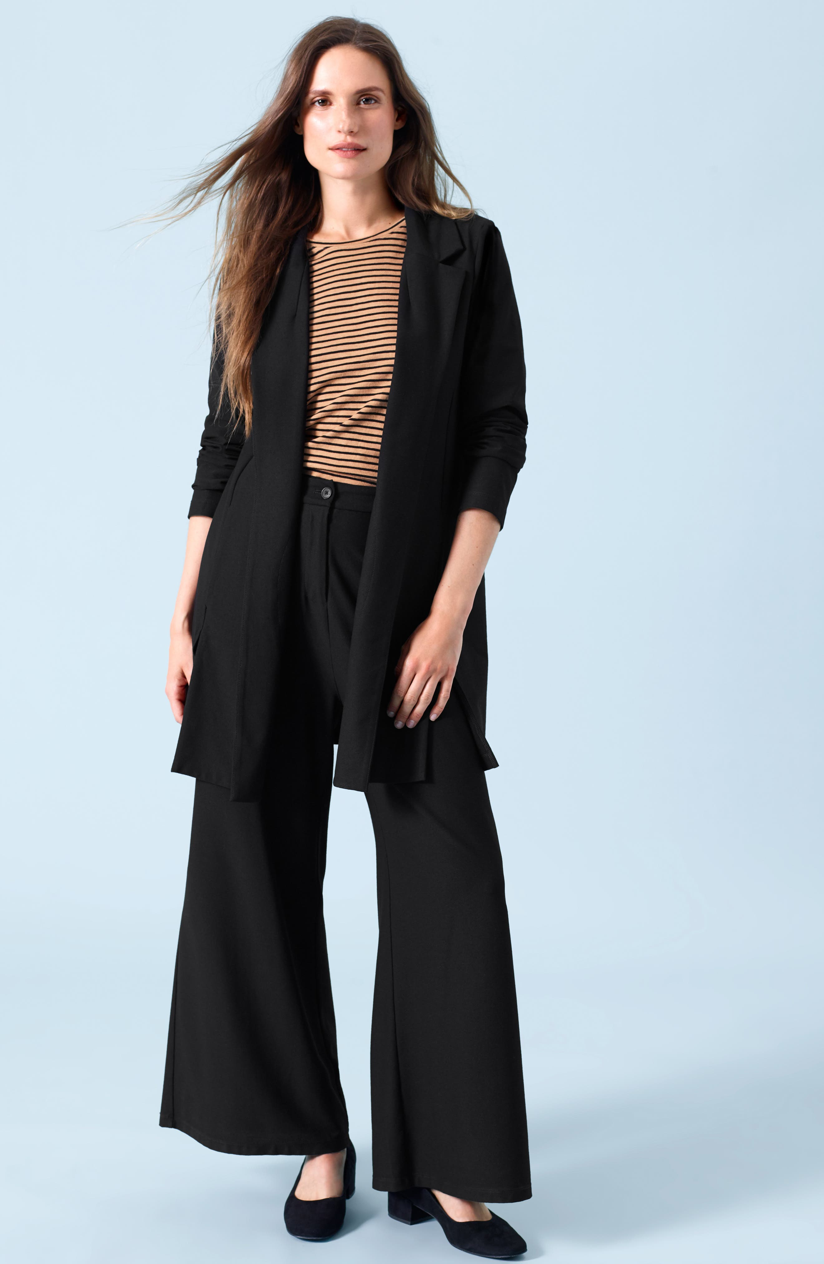 High Waist Ankle Pants,                             Alternate thumbnail 8, color,                             BLACK
