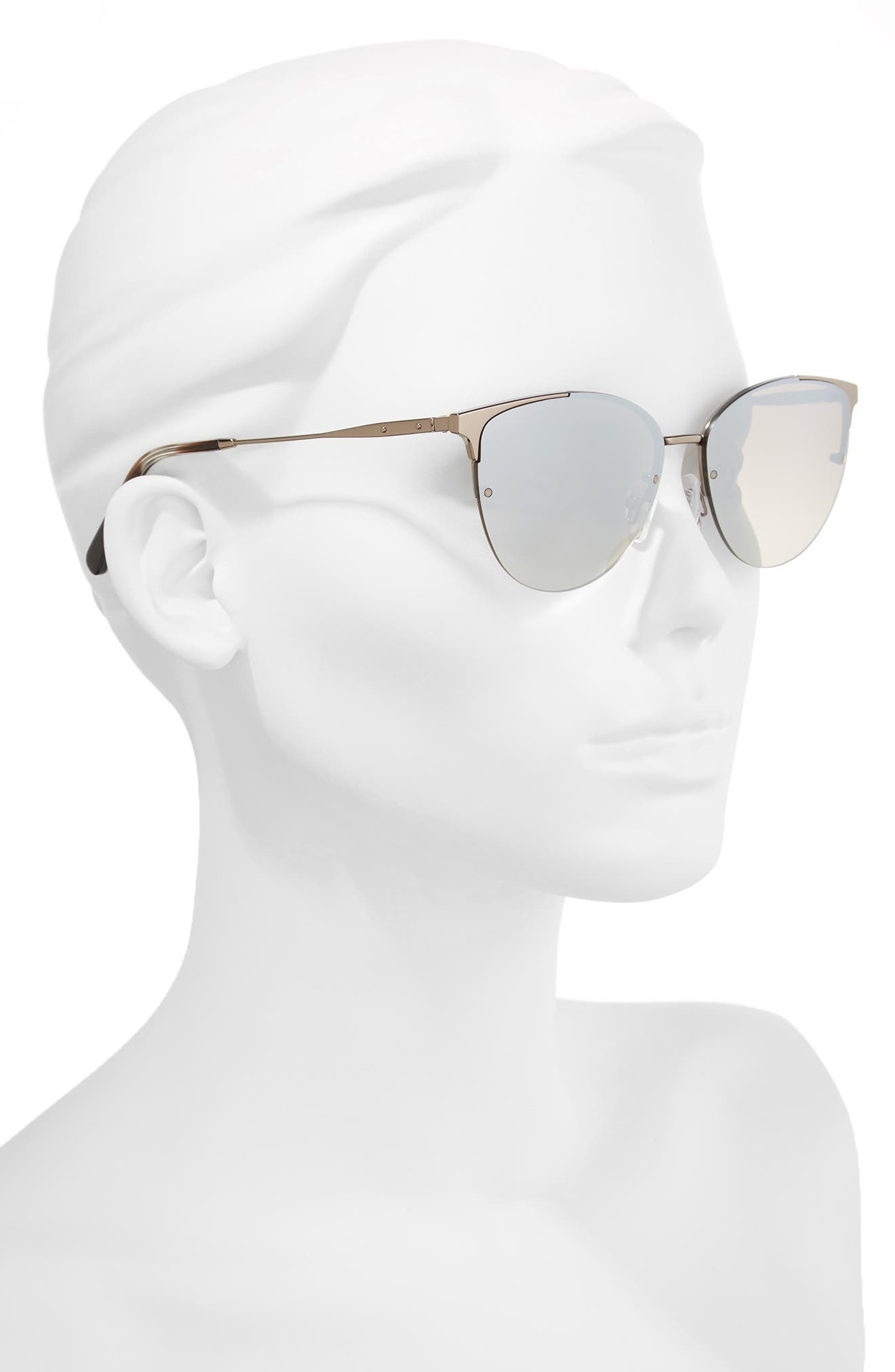 The Crystal 57mm Cat Eye Sunglasses,                             Alternate thumbnail 2, color,                             042