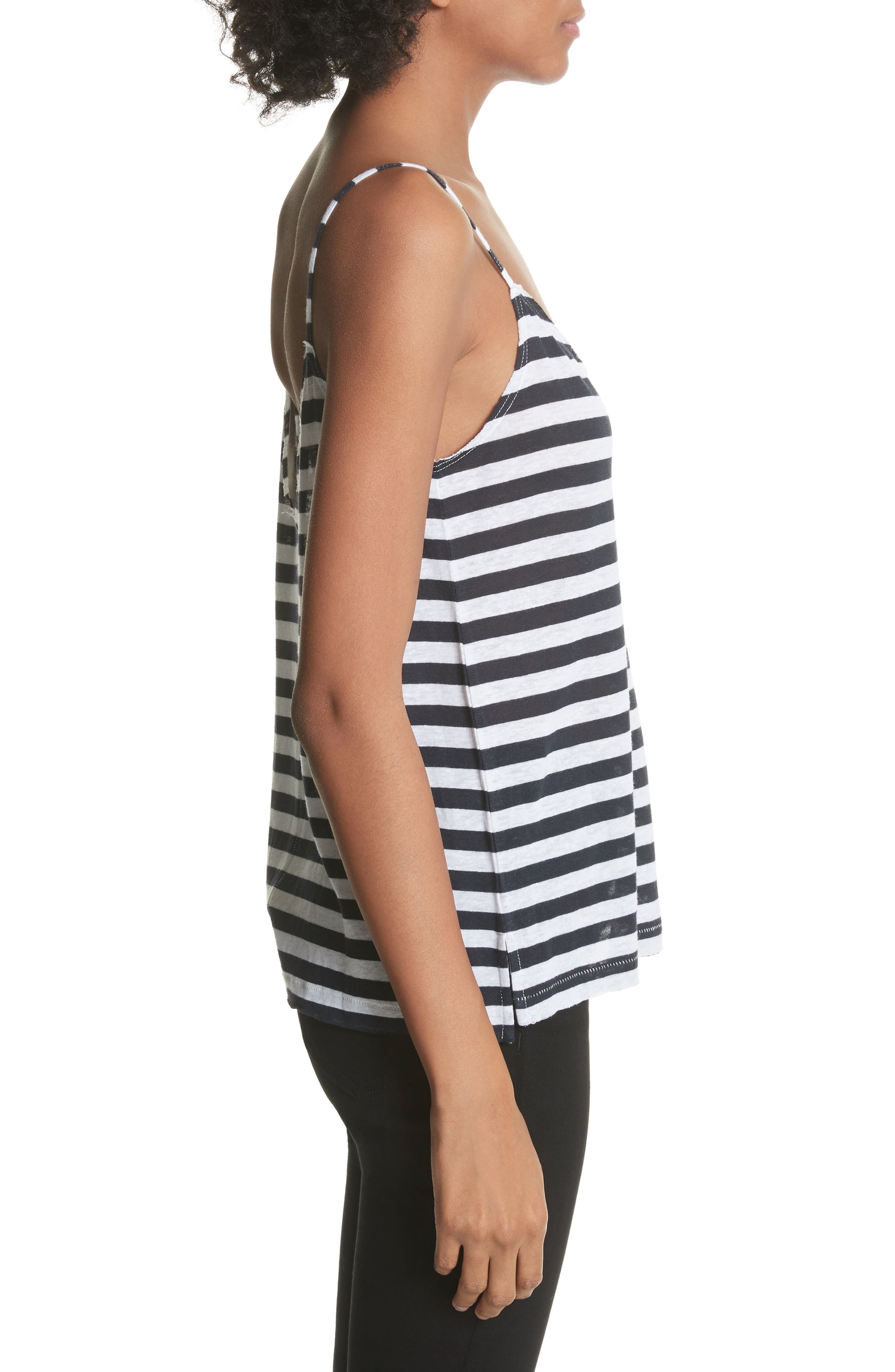RAG & BONE,                             JEAN Laila Stripe Camisole,                             Alternate thumbnail 3, color,                             410
