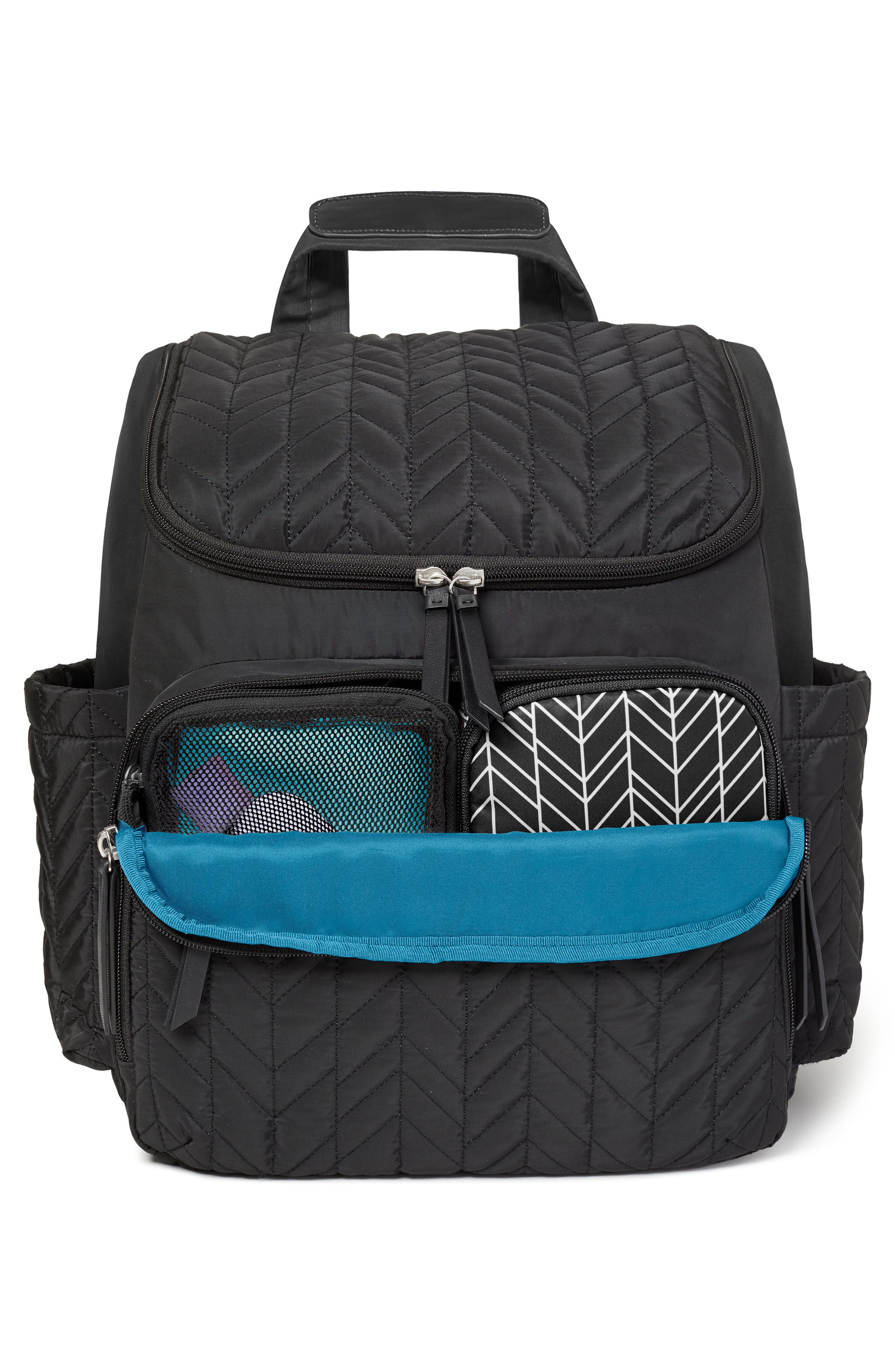 'Forma' Diaper Backpack,                             Alternate thumbnail 2, color,                             JET BLACK