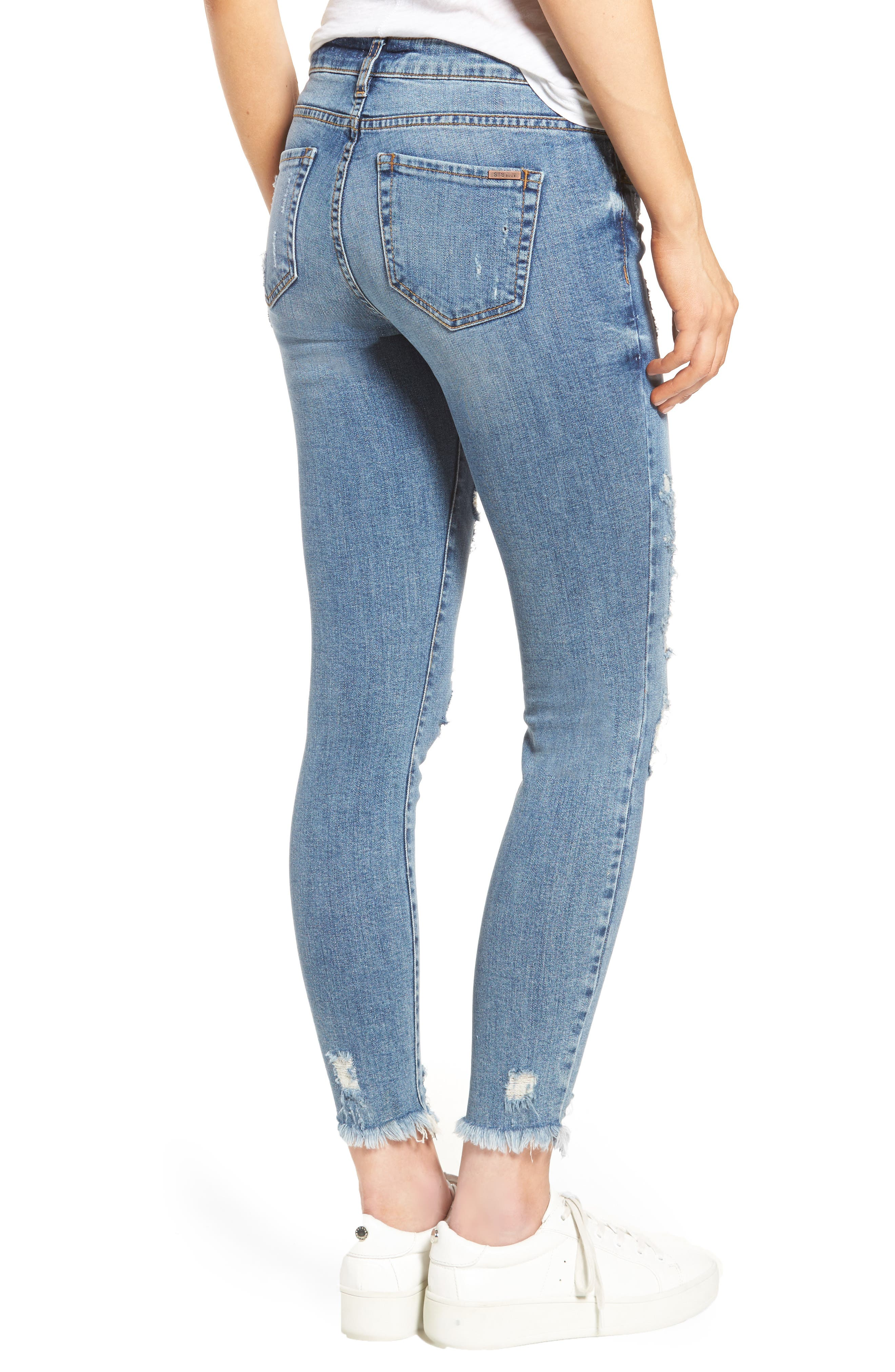 STS BLUE,                             Harper Ripped Ankle Skinny Jeans,                             Alternate thumbnail 2, color,                             400