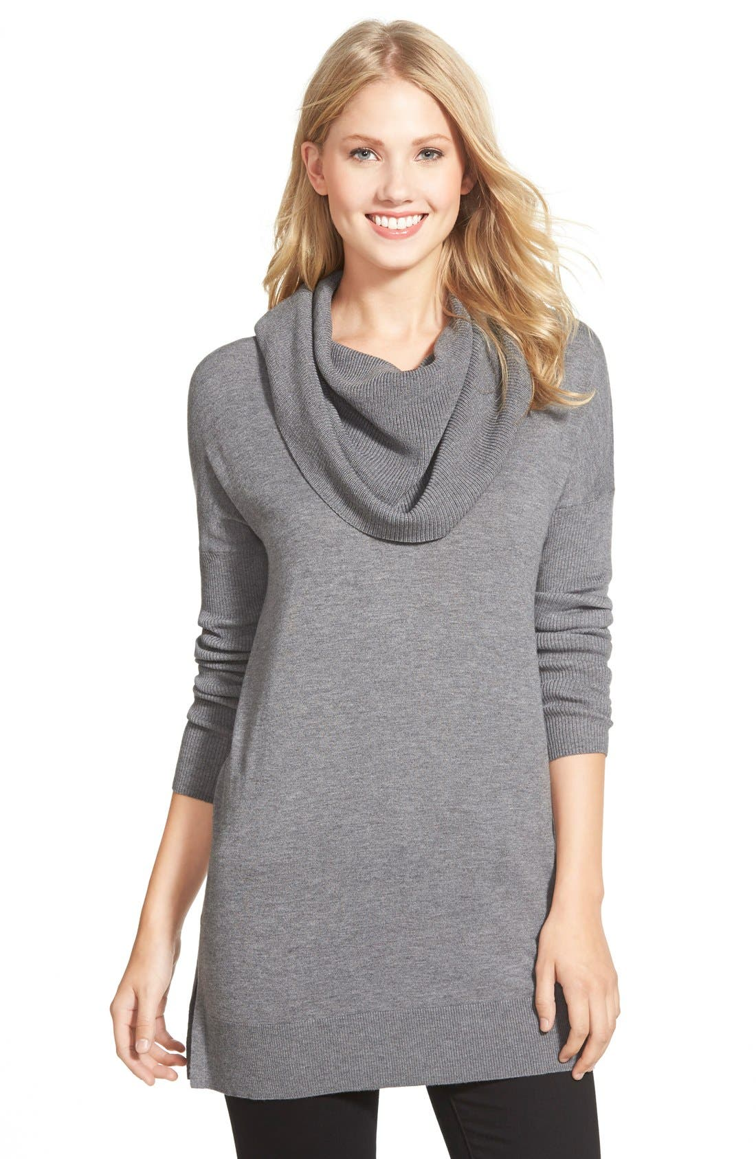 Side Slit Convertible Cowl Neck Tunic,                         Main,                         color, 030