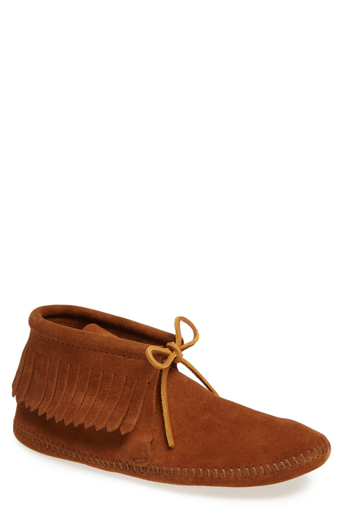 Fringe Boot,                             Main thumbnail 1, color,                             BROWN