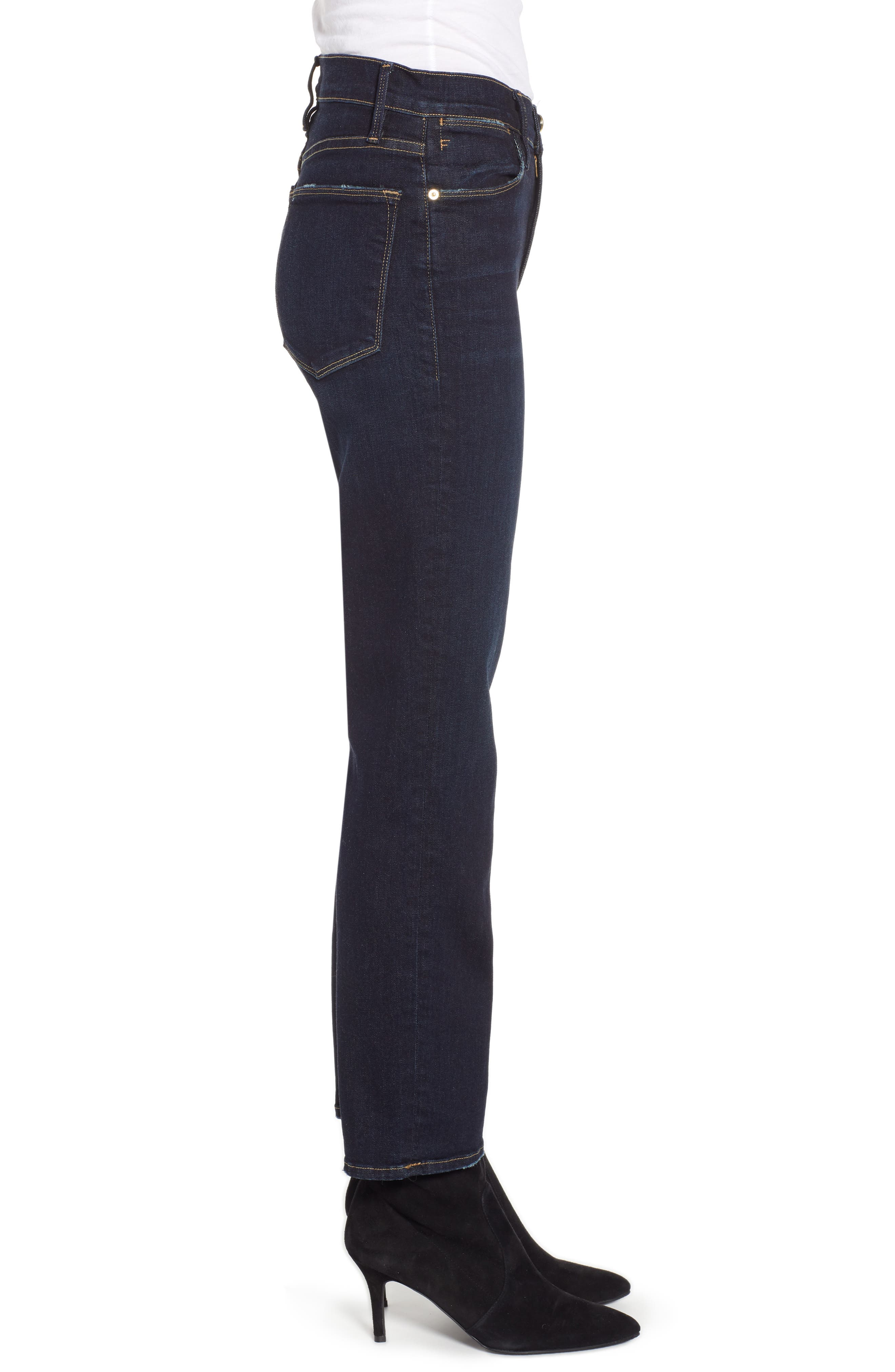 Le High Straight High Waist Crop Jeans,                             Alternate thumbnail 3, color,                             PRINGLE POINT