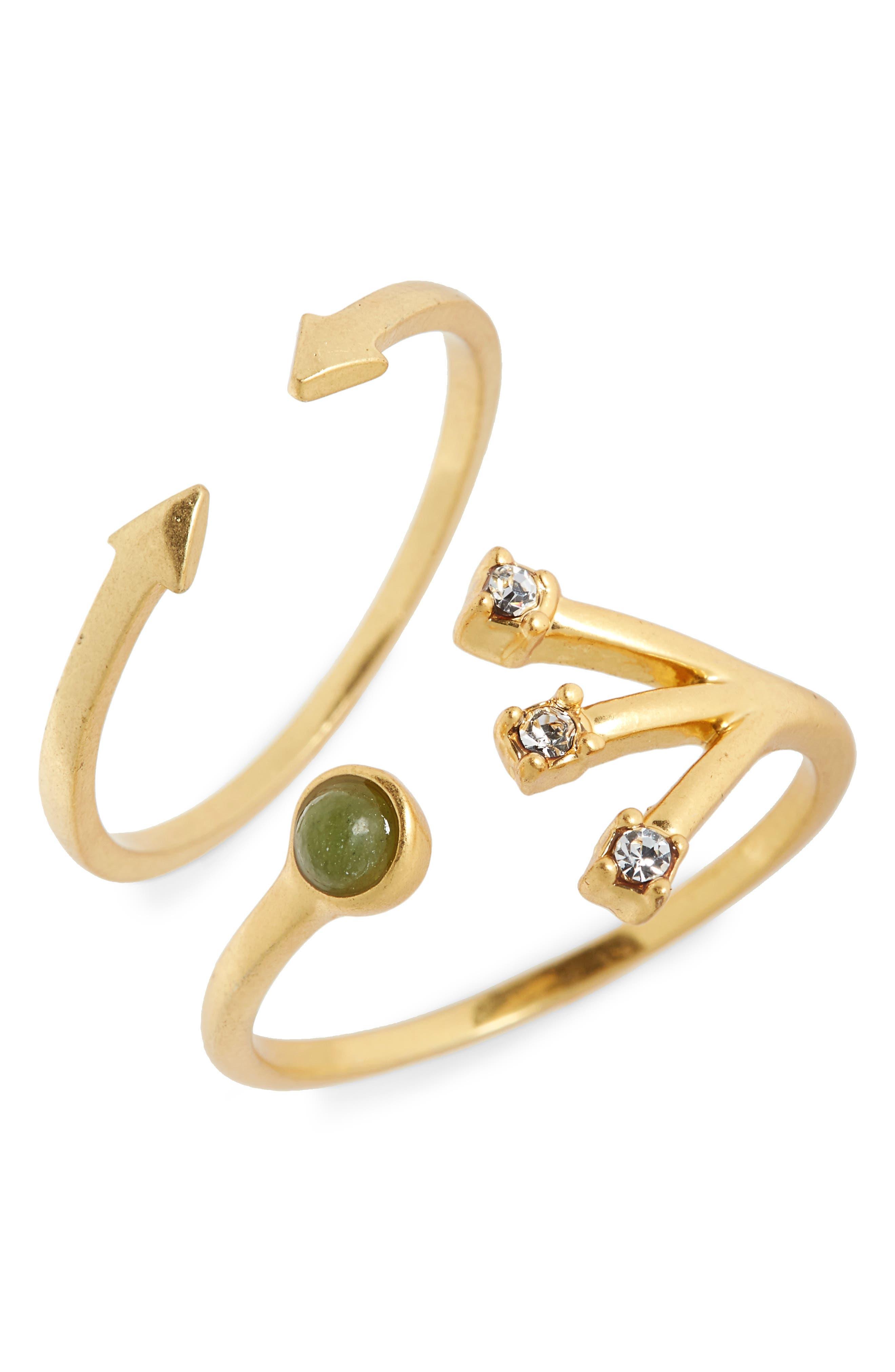 Tiny Jewels Set of 2 Stacking Rings,                             Main thumbnail 1, color,