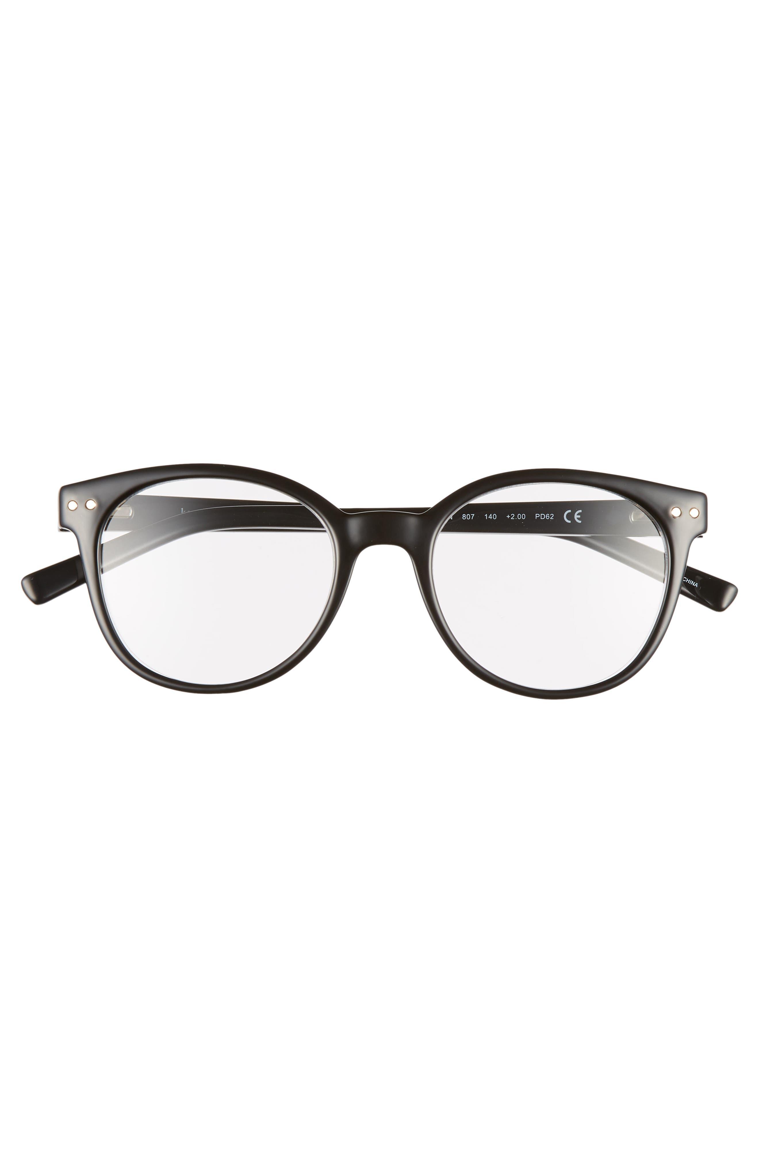 kaylin 49mm reading glasses,                             Alternate thumbnail 3, color,                             BLACK