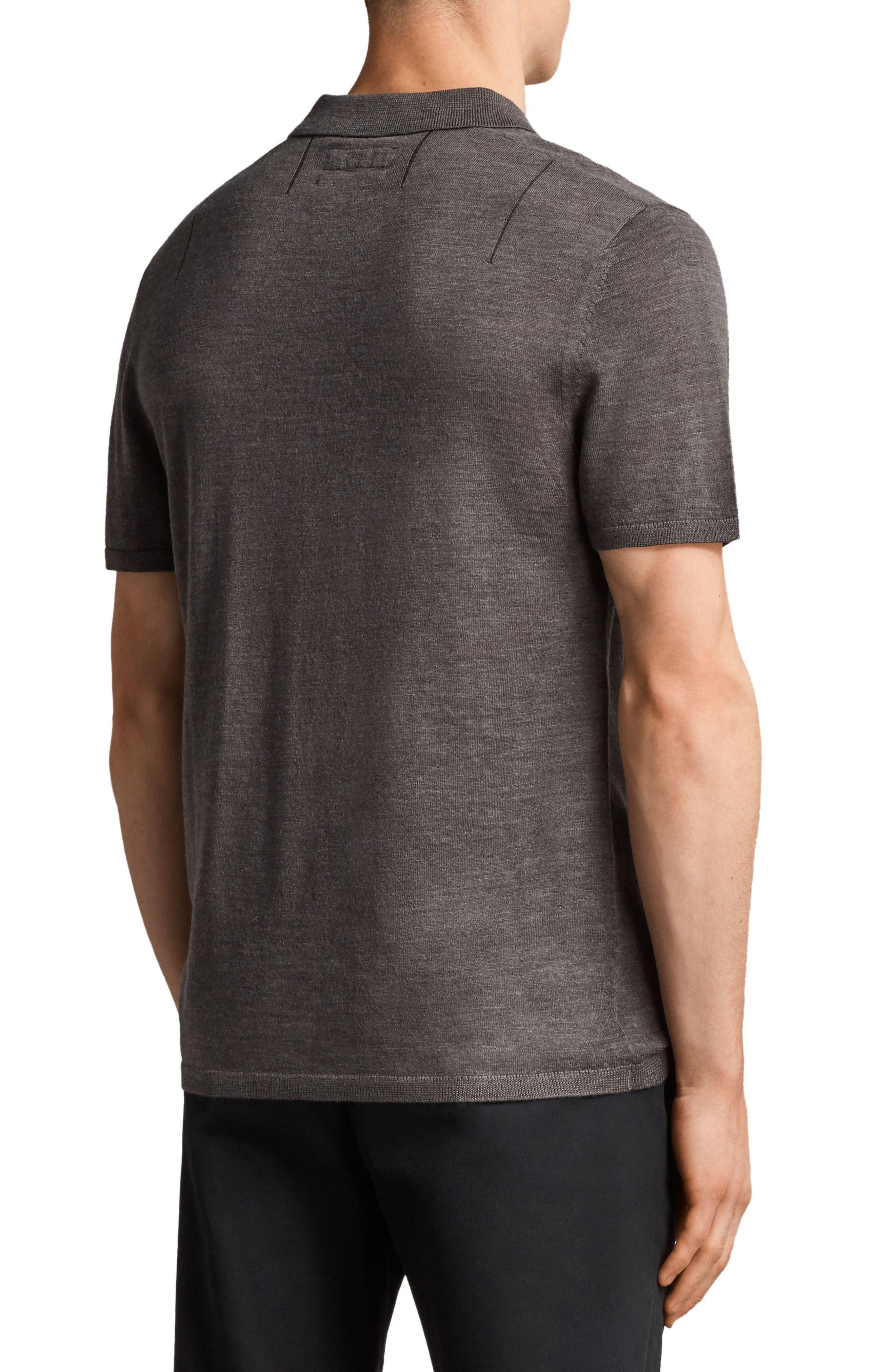 Mode Slim Fit Merino Wool Polo,                             Alternate thumbnail 5, color,
