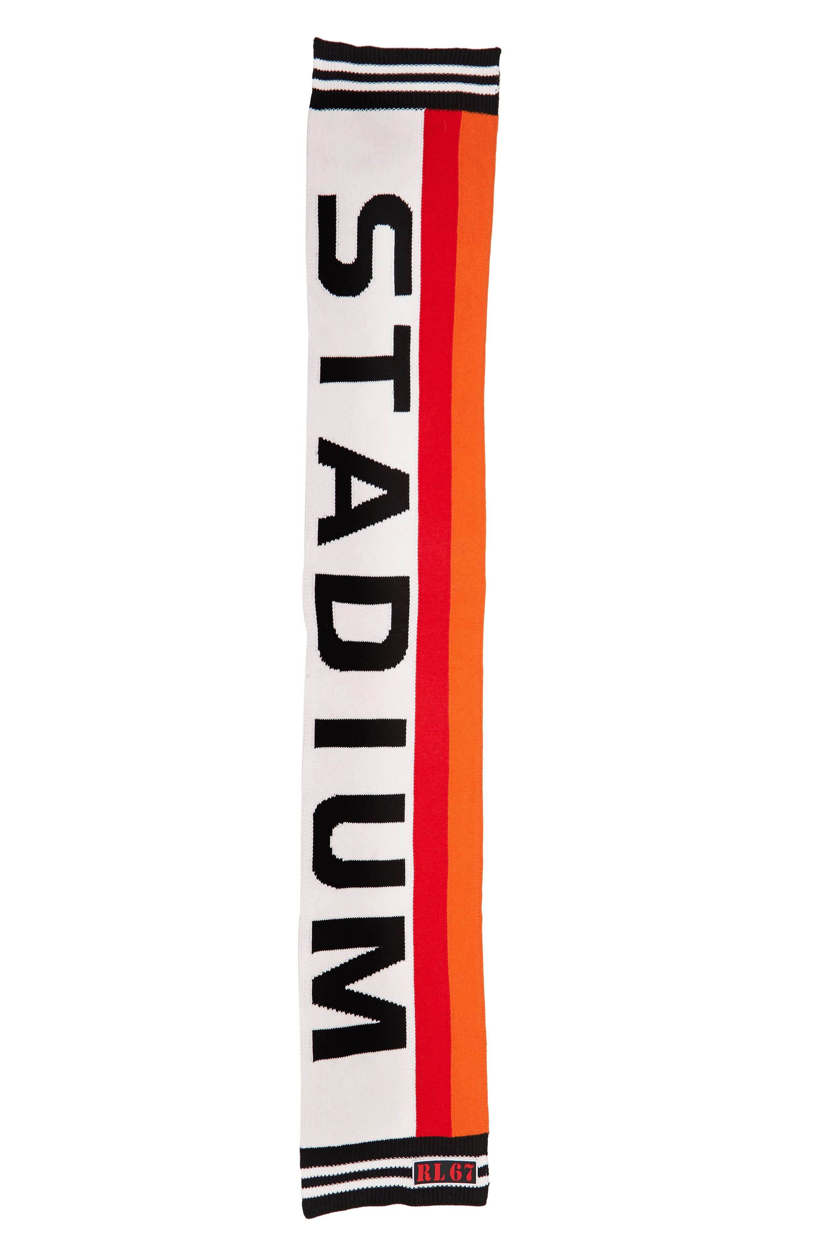 Stadium Scarf,                             Alternate thumbnail 2, color,                             BLACK/ RED/ CREAM