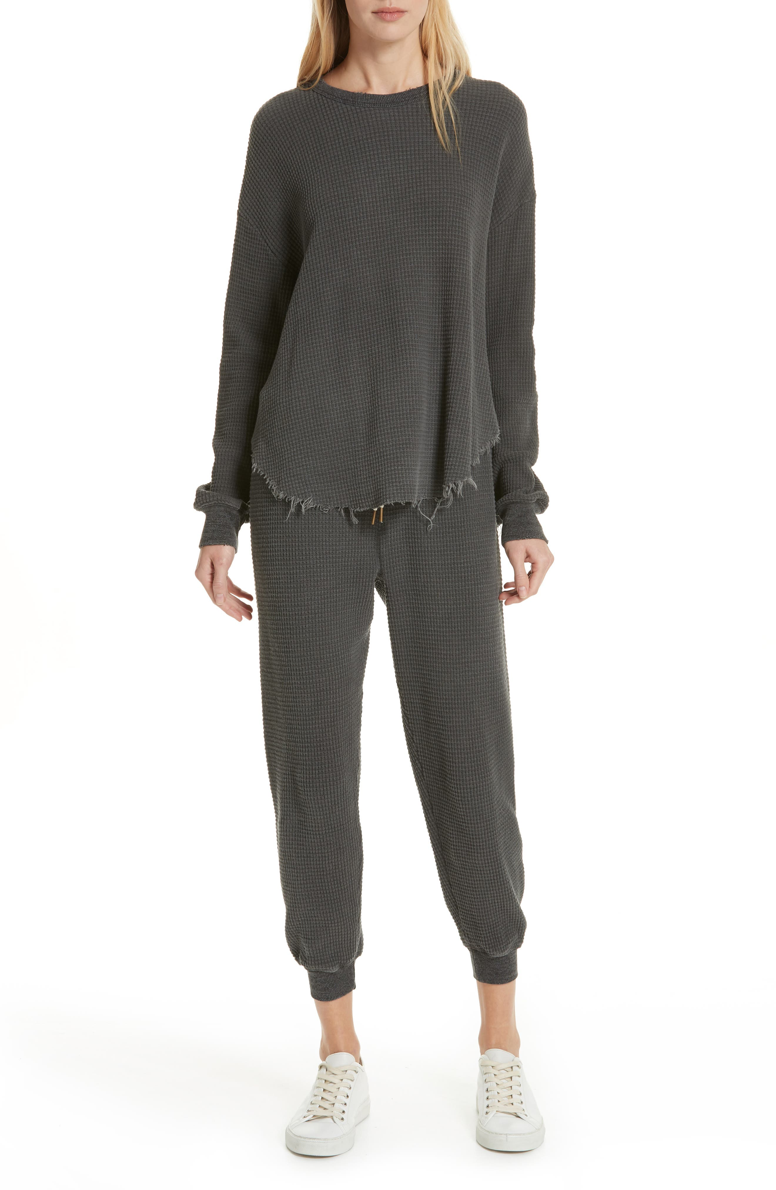 The Circle Thermal Tee,                             Alternate thumbnail 7, color,                             WASHED BLACK