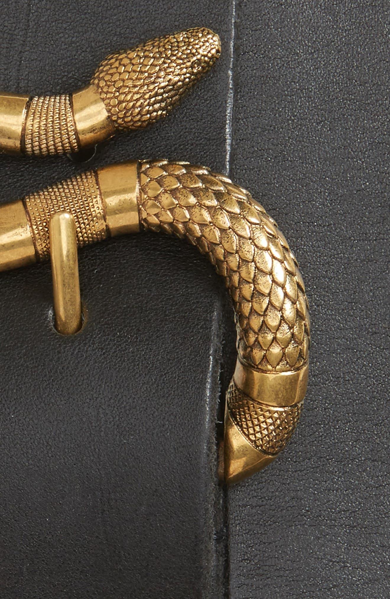 Snake Buckle Belt,                             Alternate thumbnail 2, color,                             001