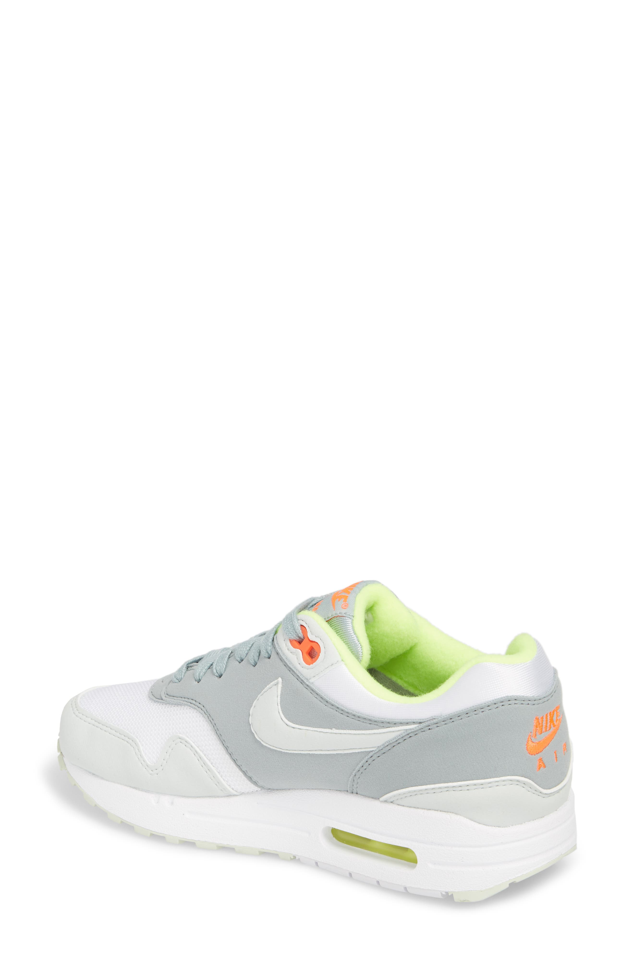 'Air Max 1 ND' Sneaker,                             Alternate thumbnail 2, color,                             WHITE/ BARELY GREY